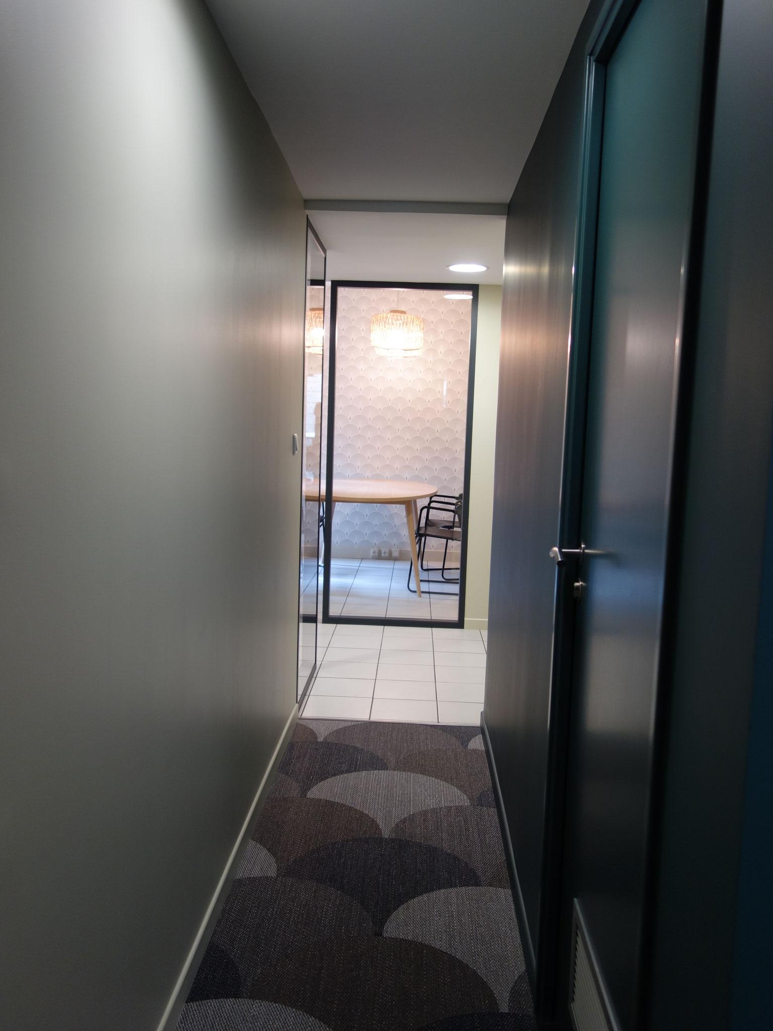 Couloir/ wc/ Création d'une douche