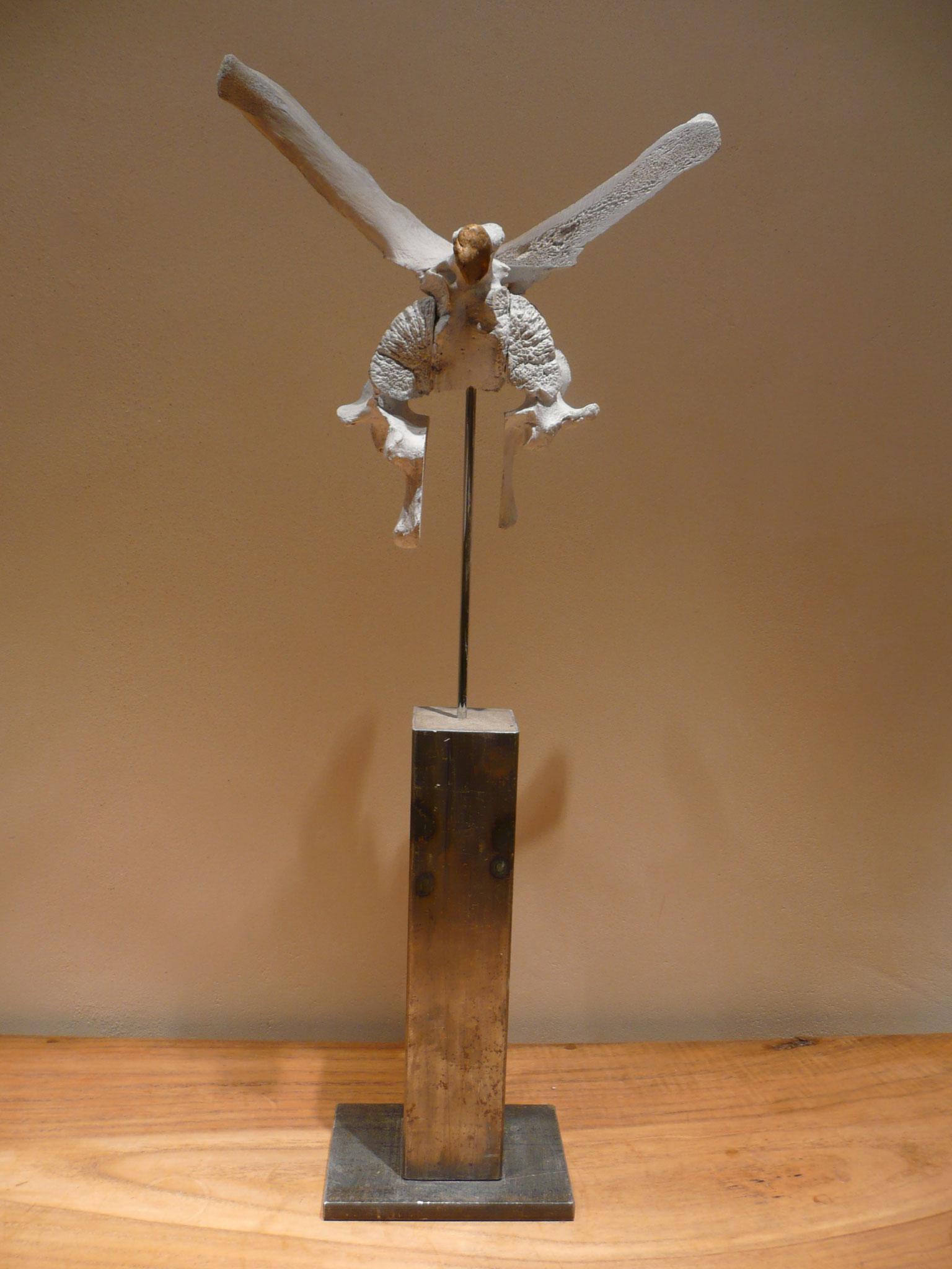 Doppeladler, MetallRinderknochen, H 64cm