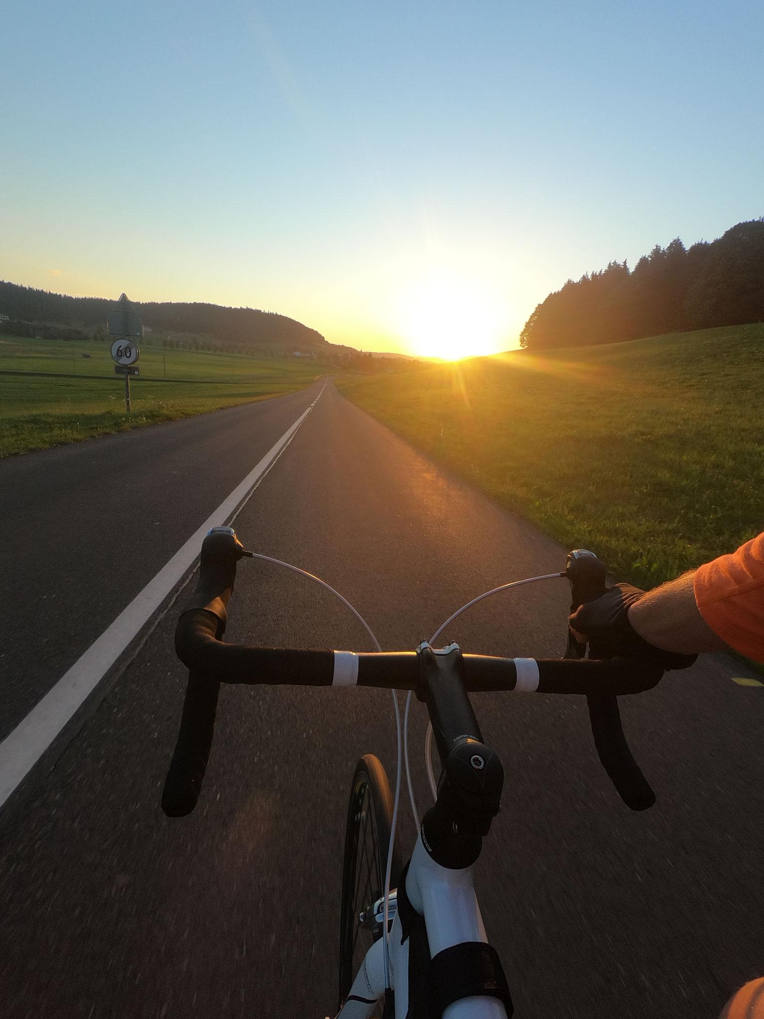 Morgenstimmung auf dem Rad
