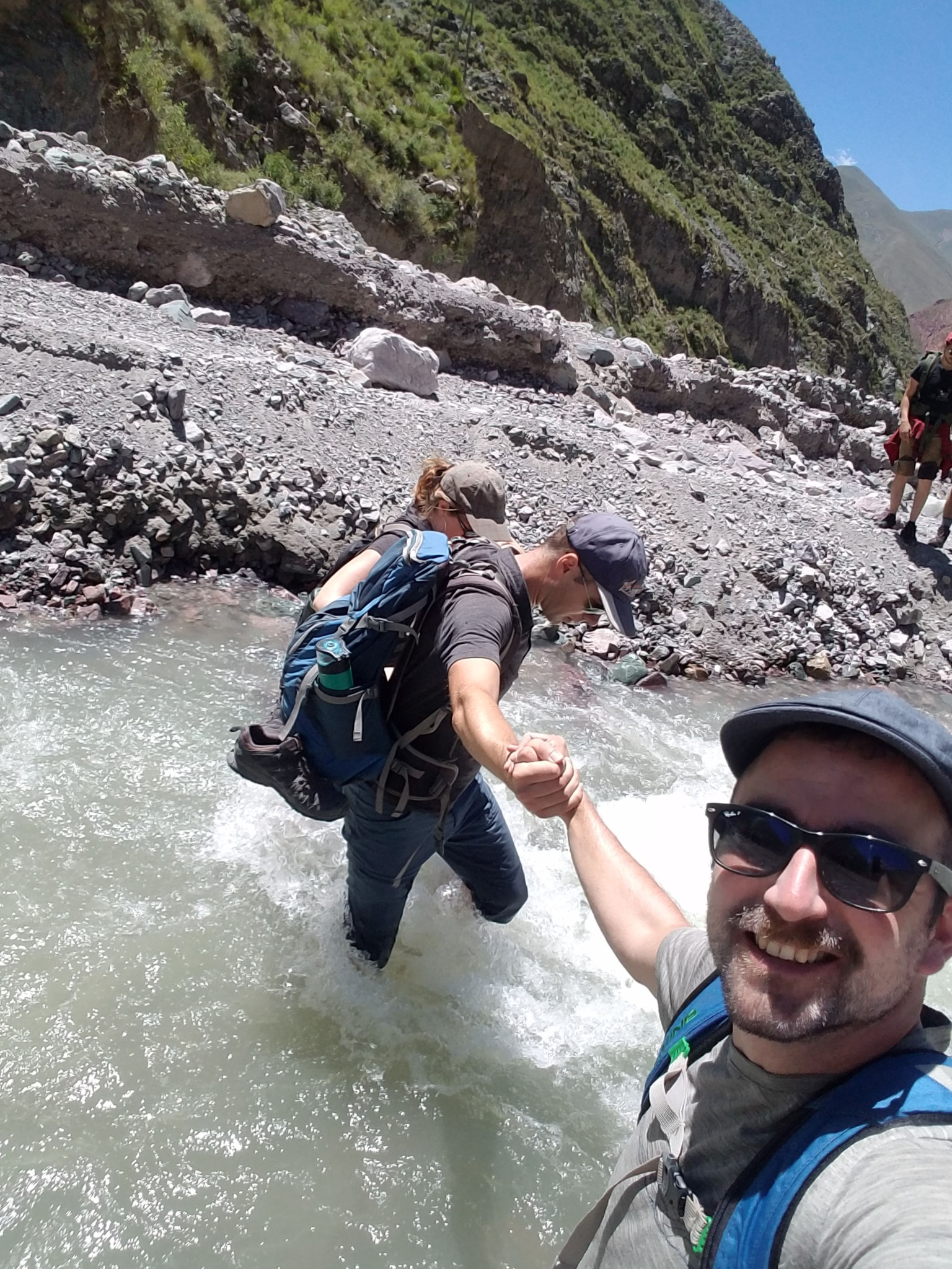 Diesen Bach haben wir bei unserer Wanderung ca. 15 Mal gequert...