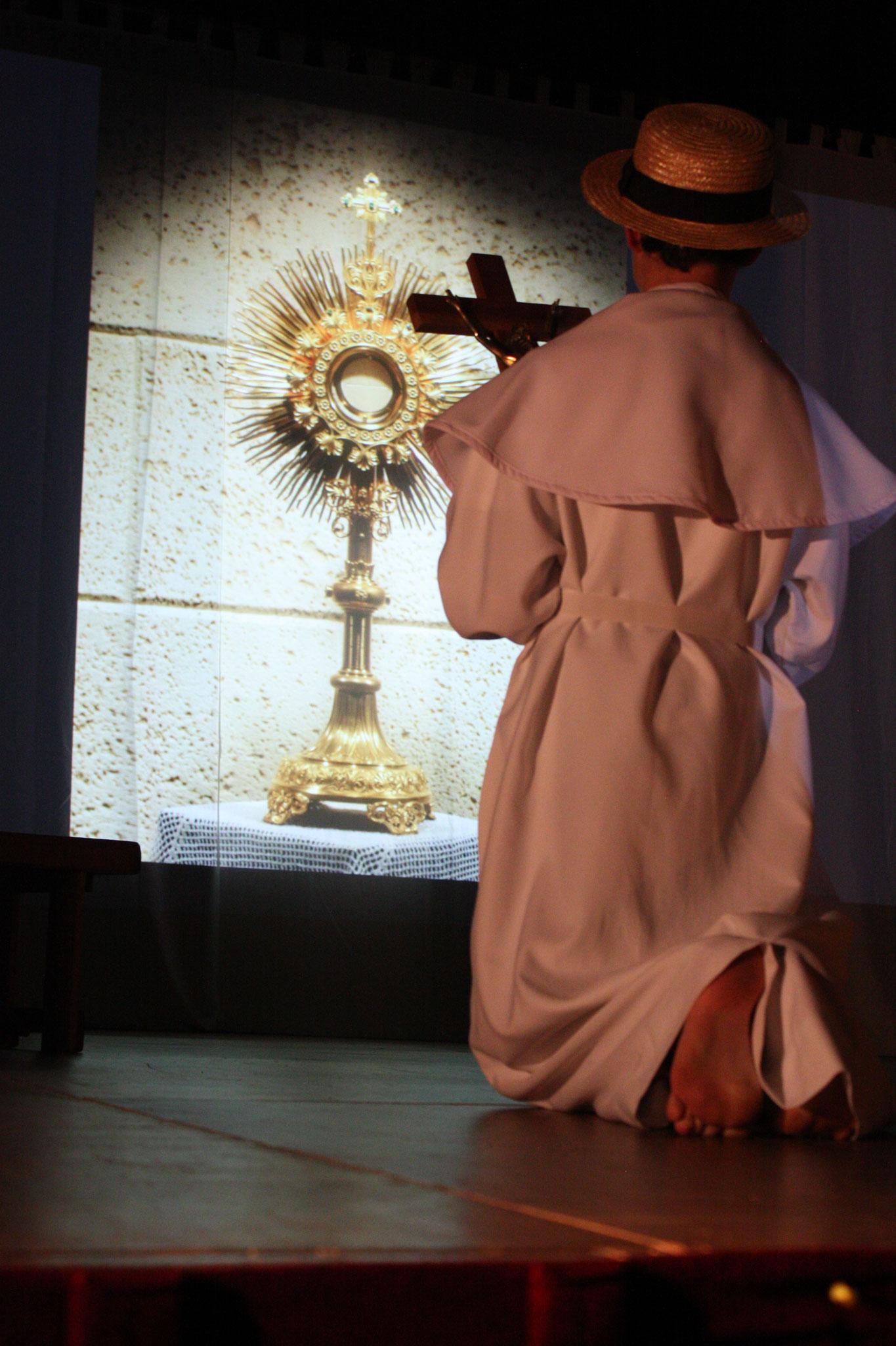 Inter-tableaux : Damien regarde les lépreux avec cœur - ( c) JDR