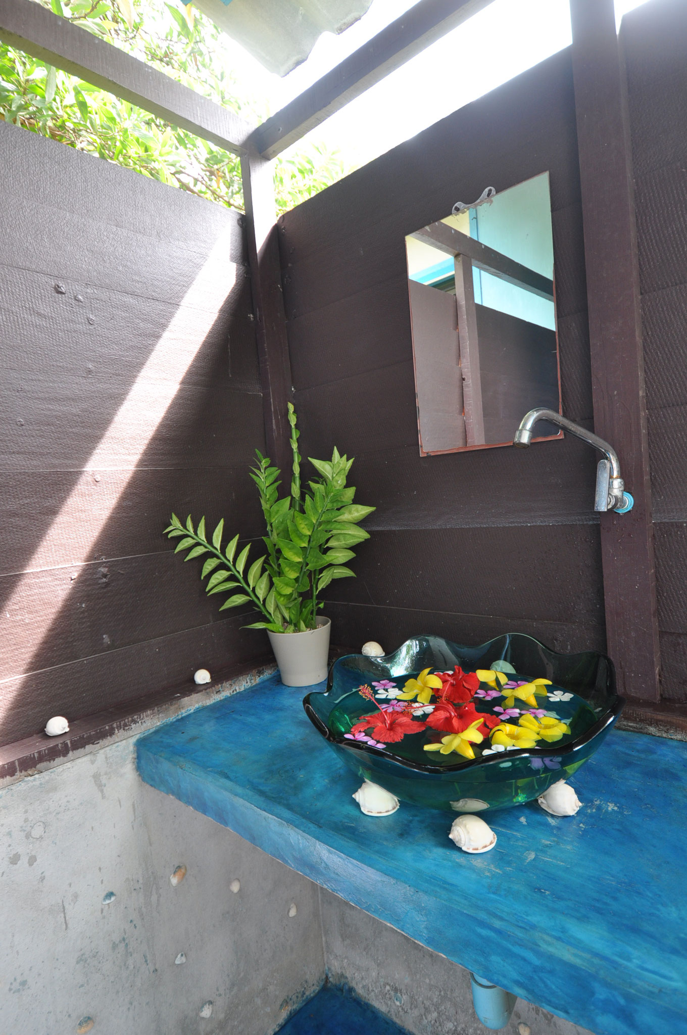 Badezimmer 'open air'