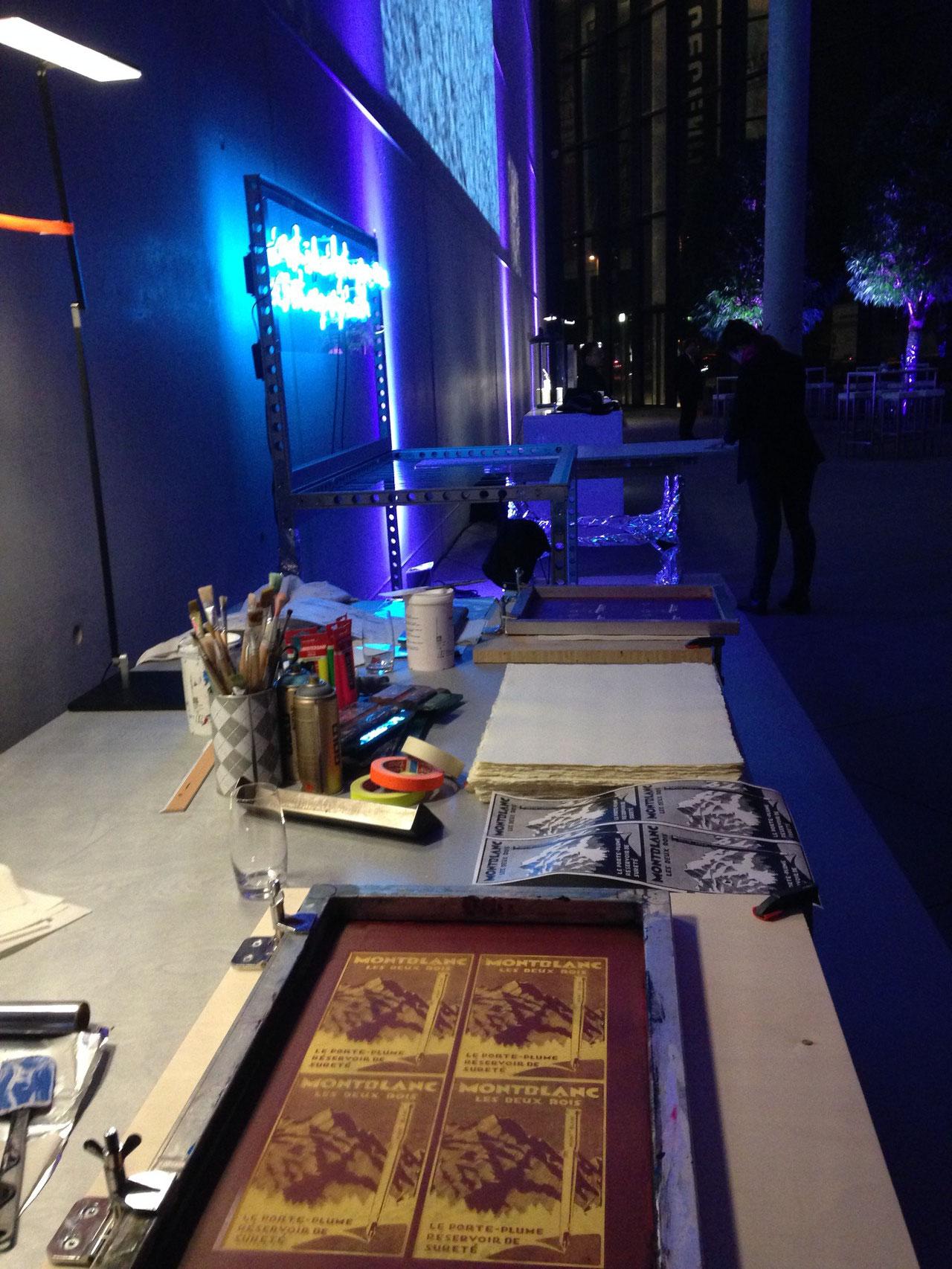 Siebdruck Event  in der Pinakothek der Moderne