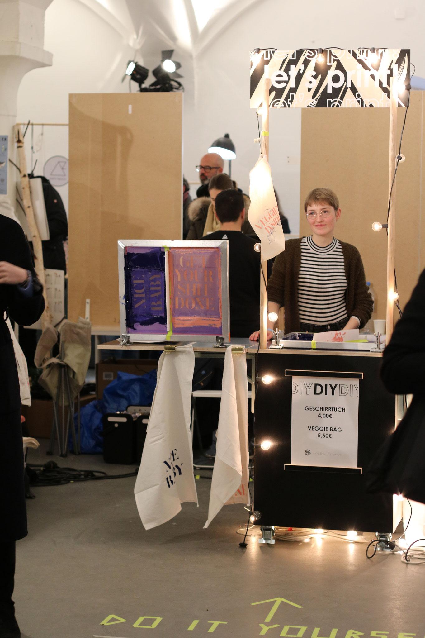 DIY- Station auf dem Stijl Markt