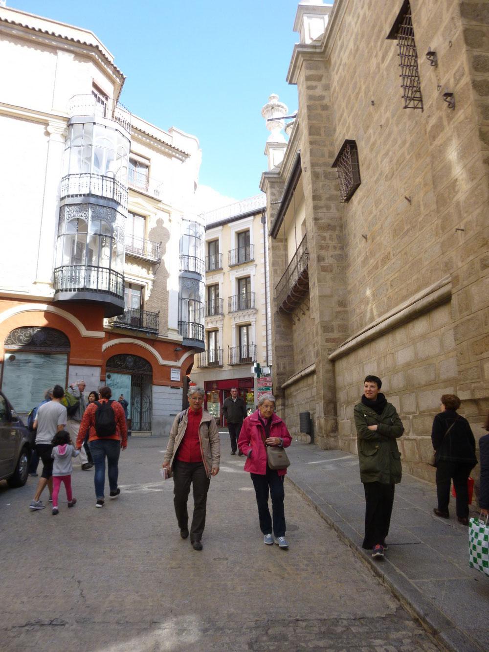 Arrivée à la cathédrale de Tolède