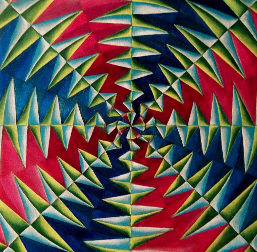 """""""Creation"""", oil on canvas, 12x12, Nov. 2012"""