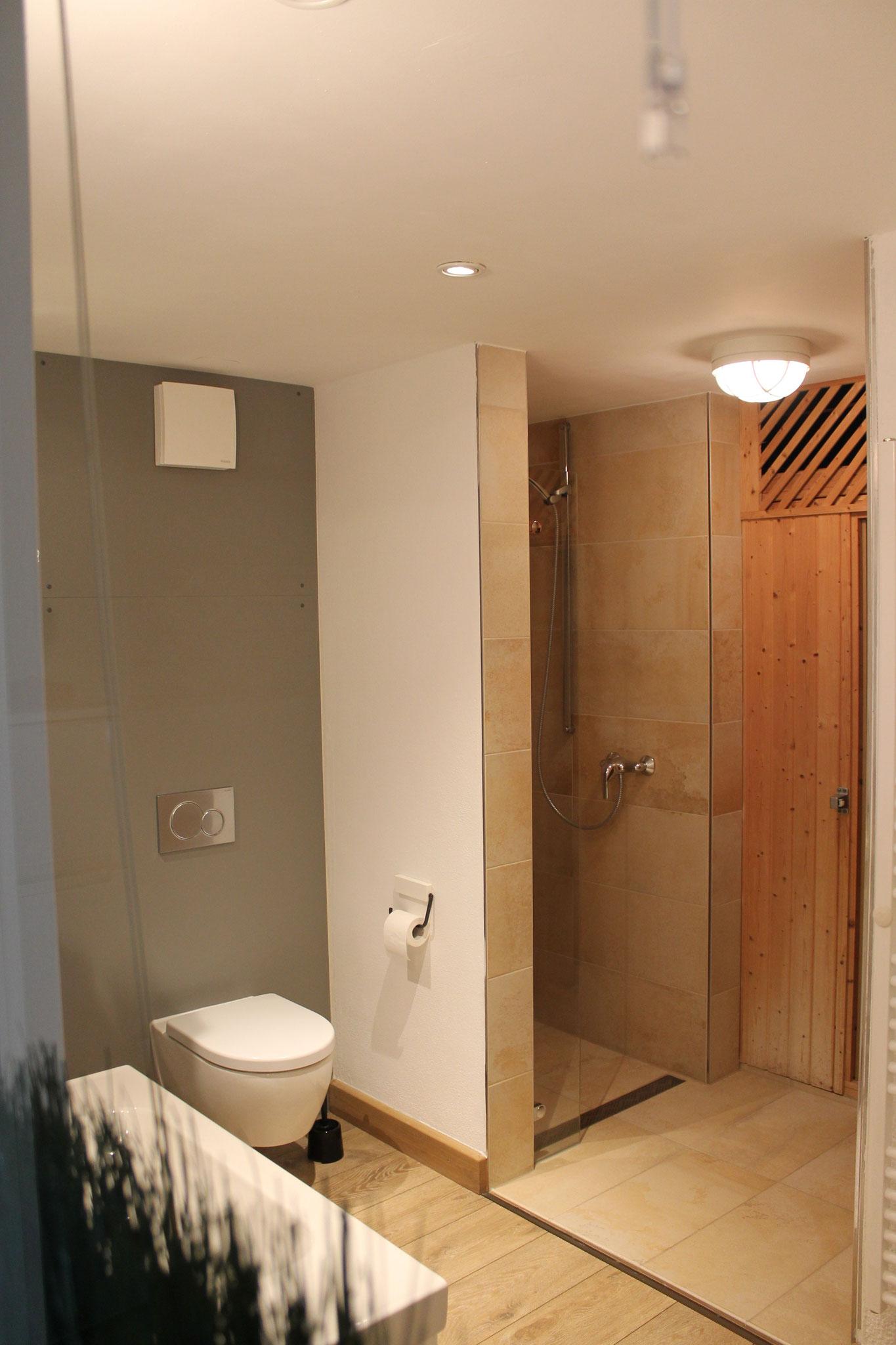 direkter Zugang zur eigenen Sauna