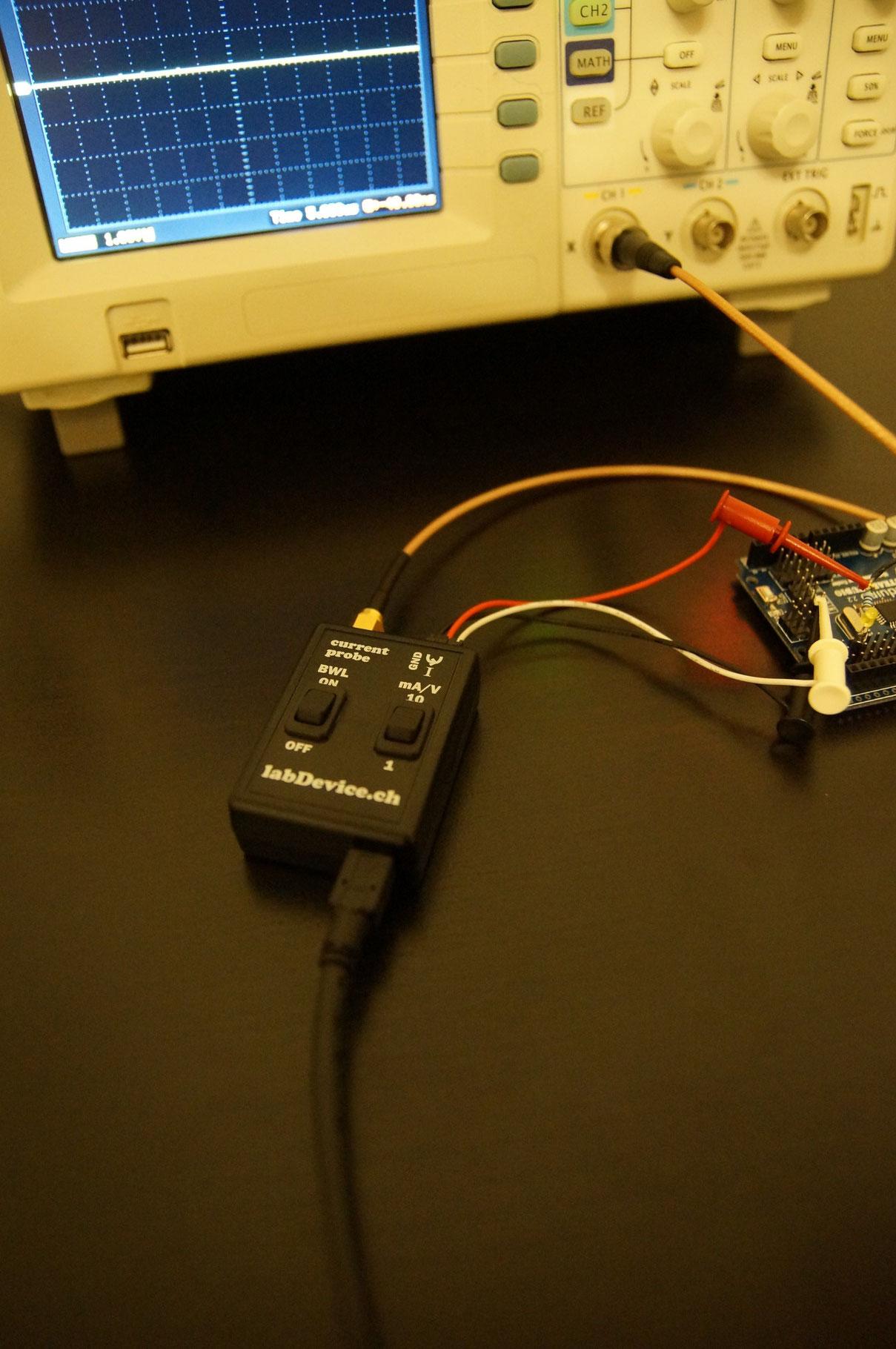 High bandwidth current probe