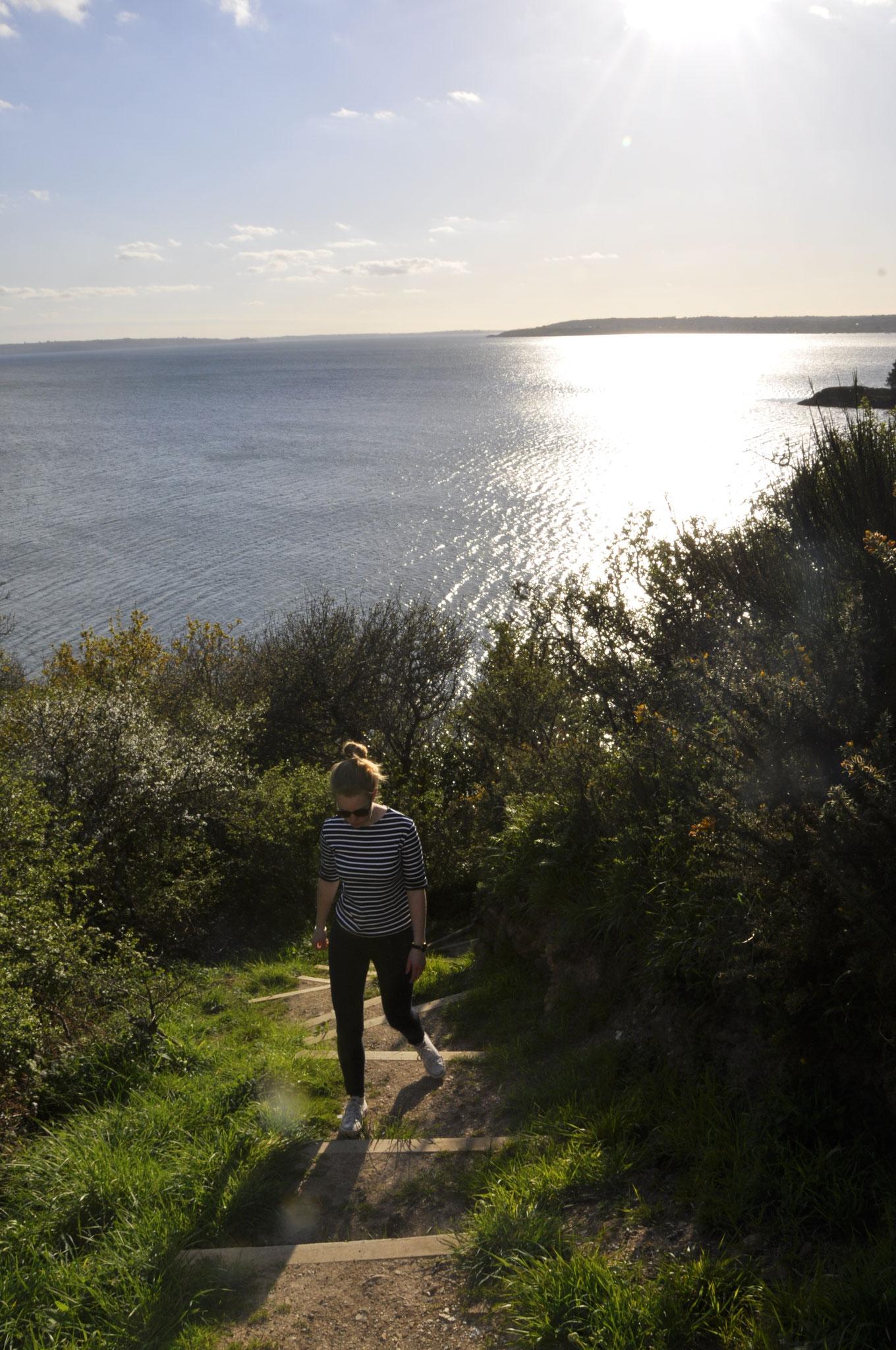 Chemin côtier à la Pointe du Château
