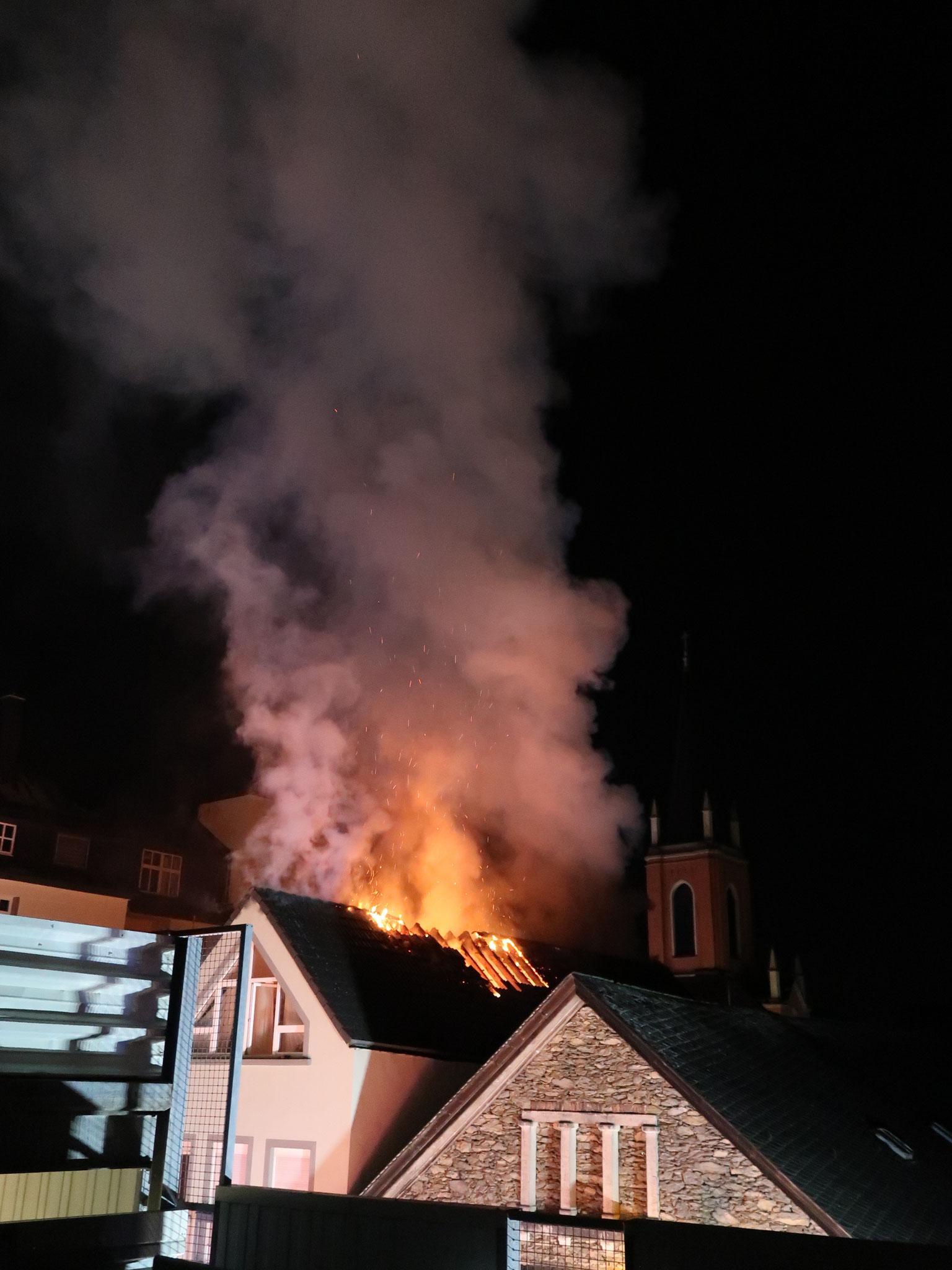 Brand Limburg 07.09.2019 - (c) FF Limburg
