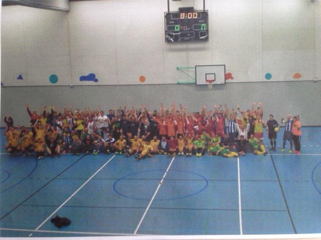 13. Int. Zugpersonal Hallenfussballturnier Teilnehmer im 2014 in Luzern