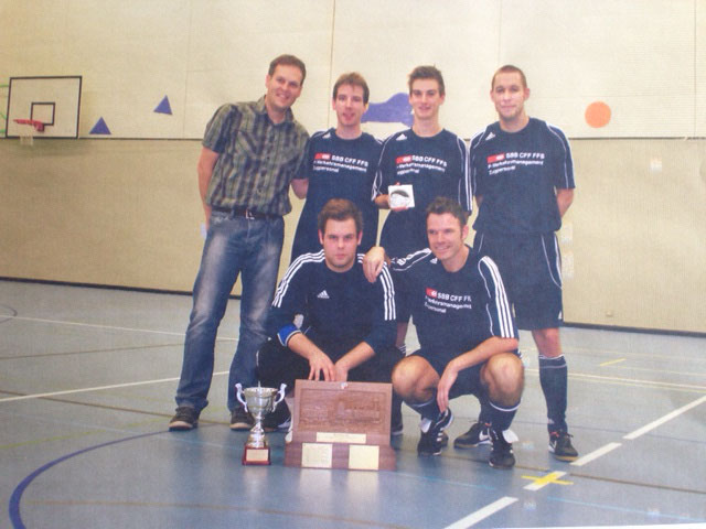 11. Int. Zugpersonal Hallenfussballturnier 1. Rang im 2012 in Luzern