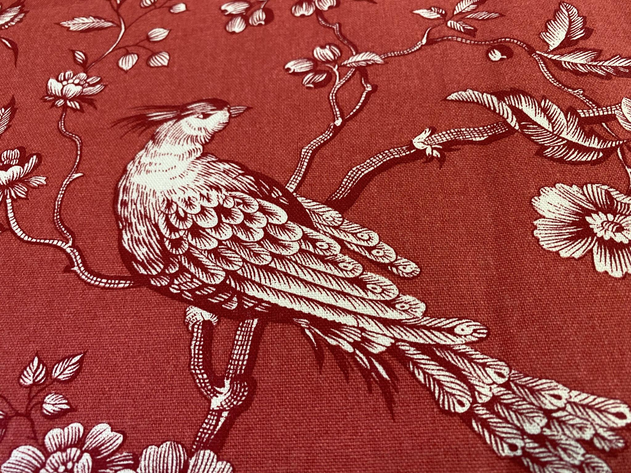 """""""Vogelgezwitscher rot"""" Detail"""