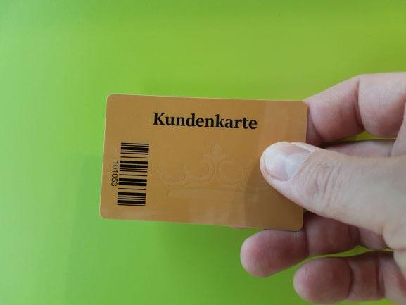 Die goldene Kundenkarte