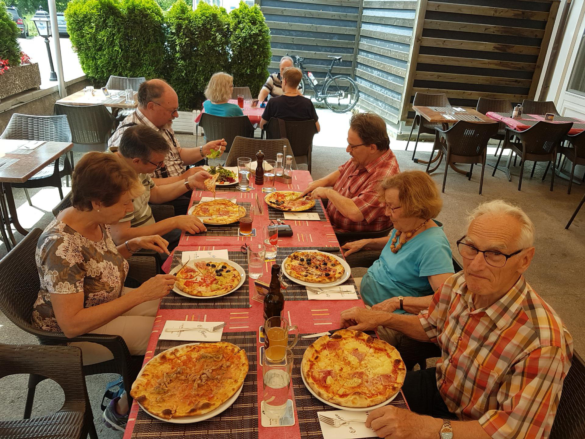 Ein Teil der Gruppe hatte anschliessend noch Lust auf eine feine Pizza