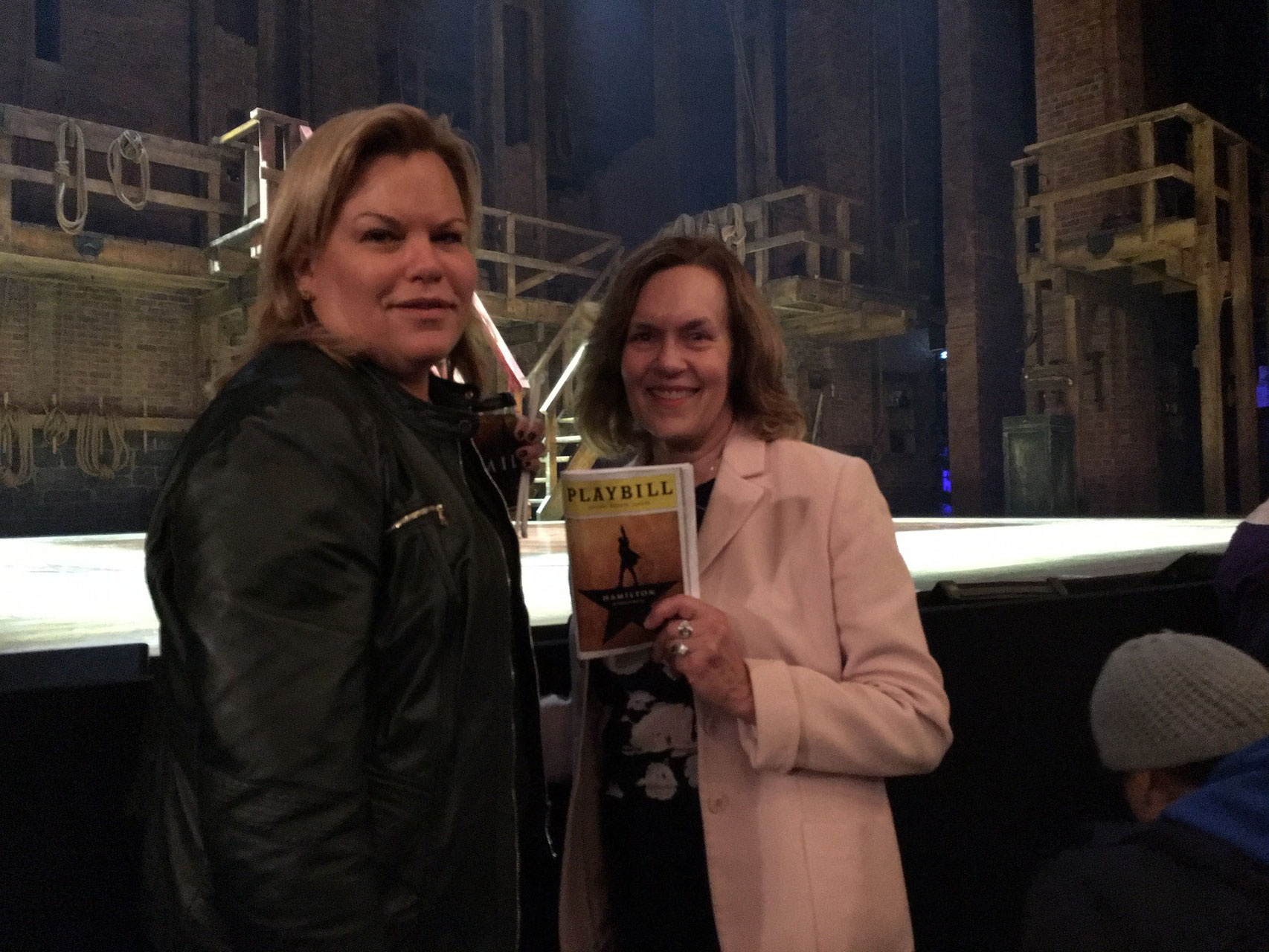 At the play Hamilton Feb 9, 2016 Celeste and Lorraine..A fantastic play
