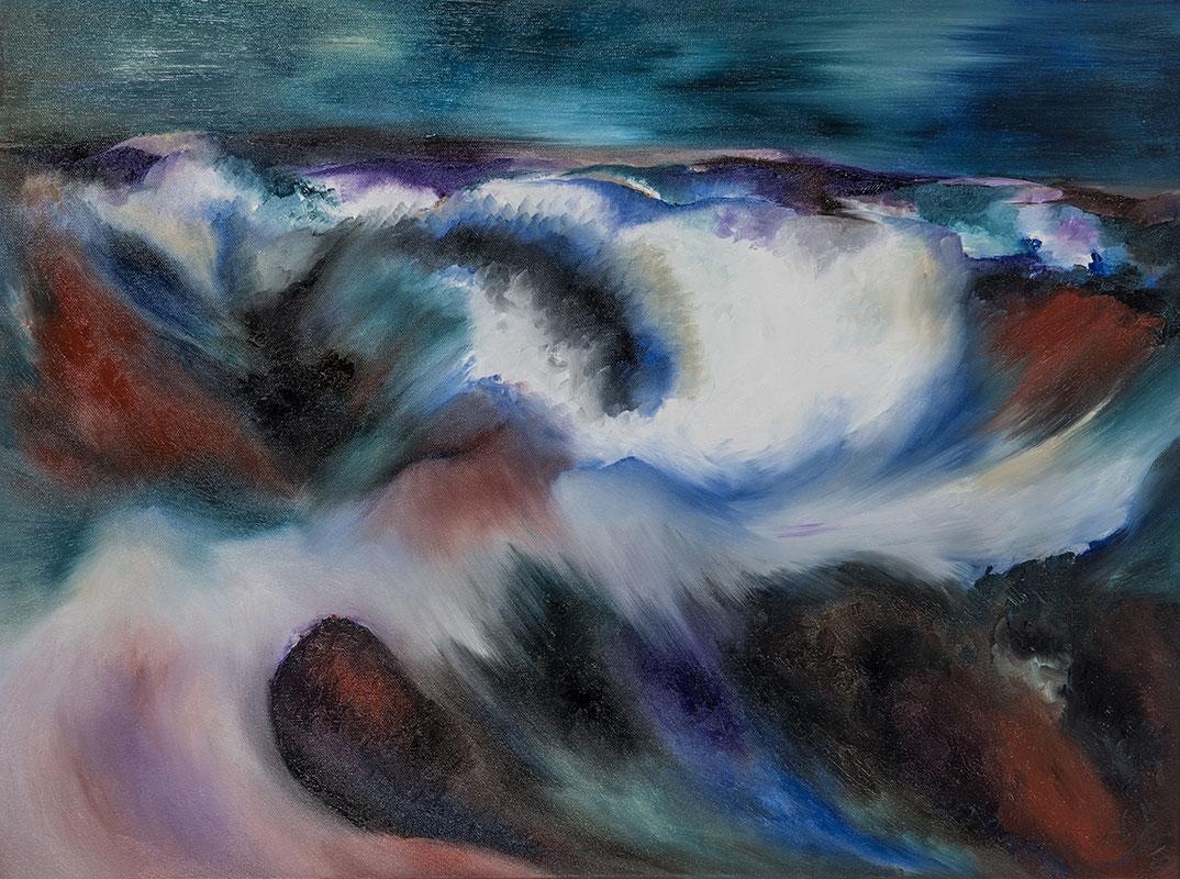 Spirit 2, 60 x 80 cm, Öl auf Leinwand, 2018