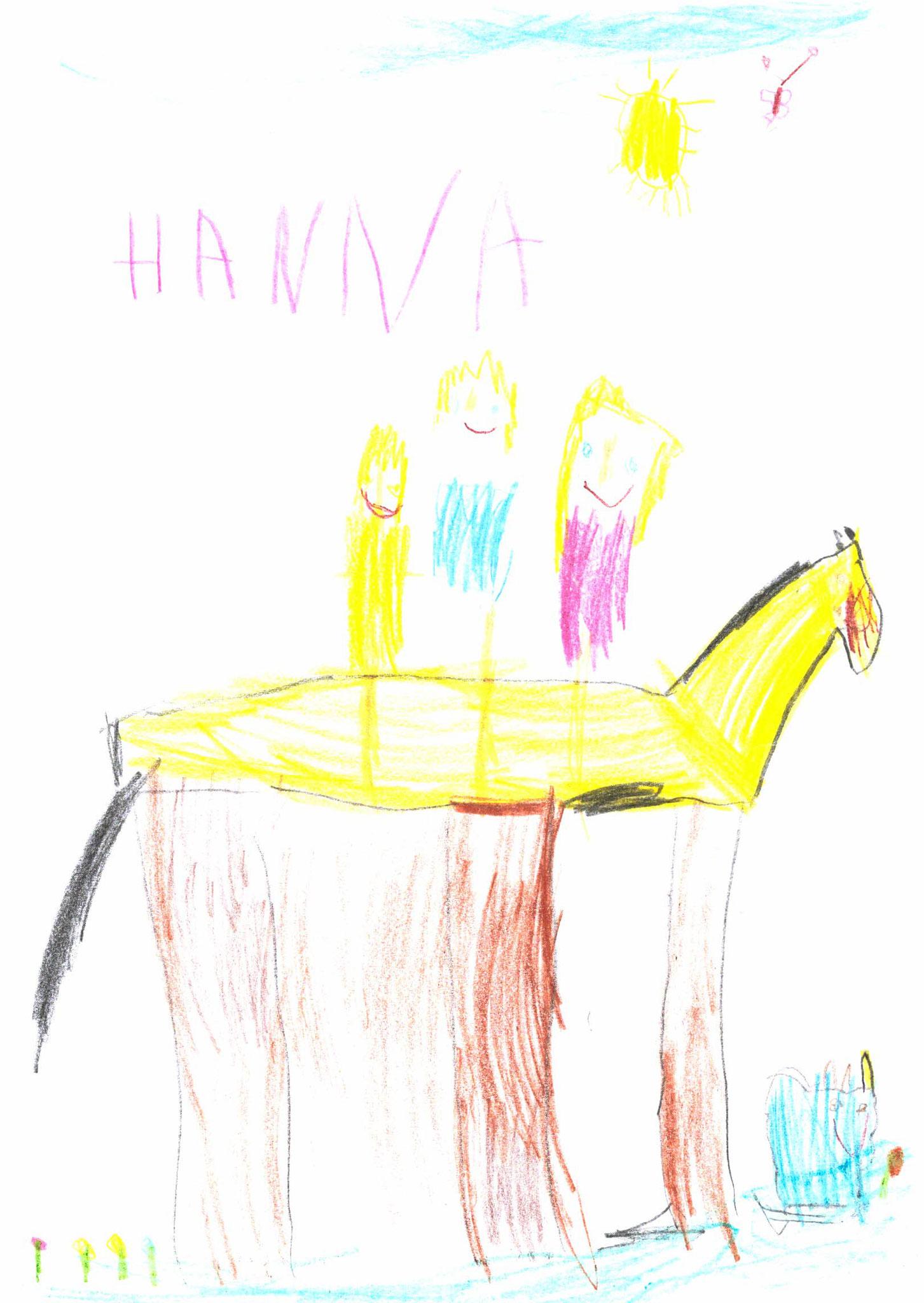 Hanna Schwarzmeier, 4 Jahre, Wolfsbuch