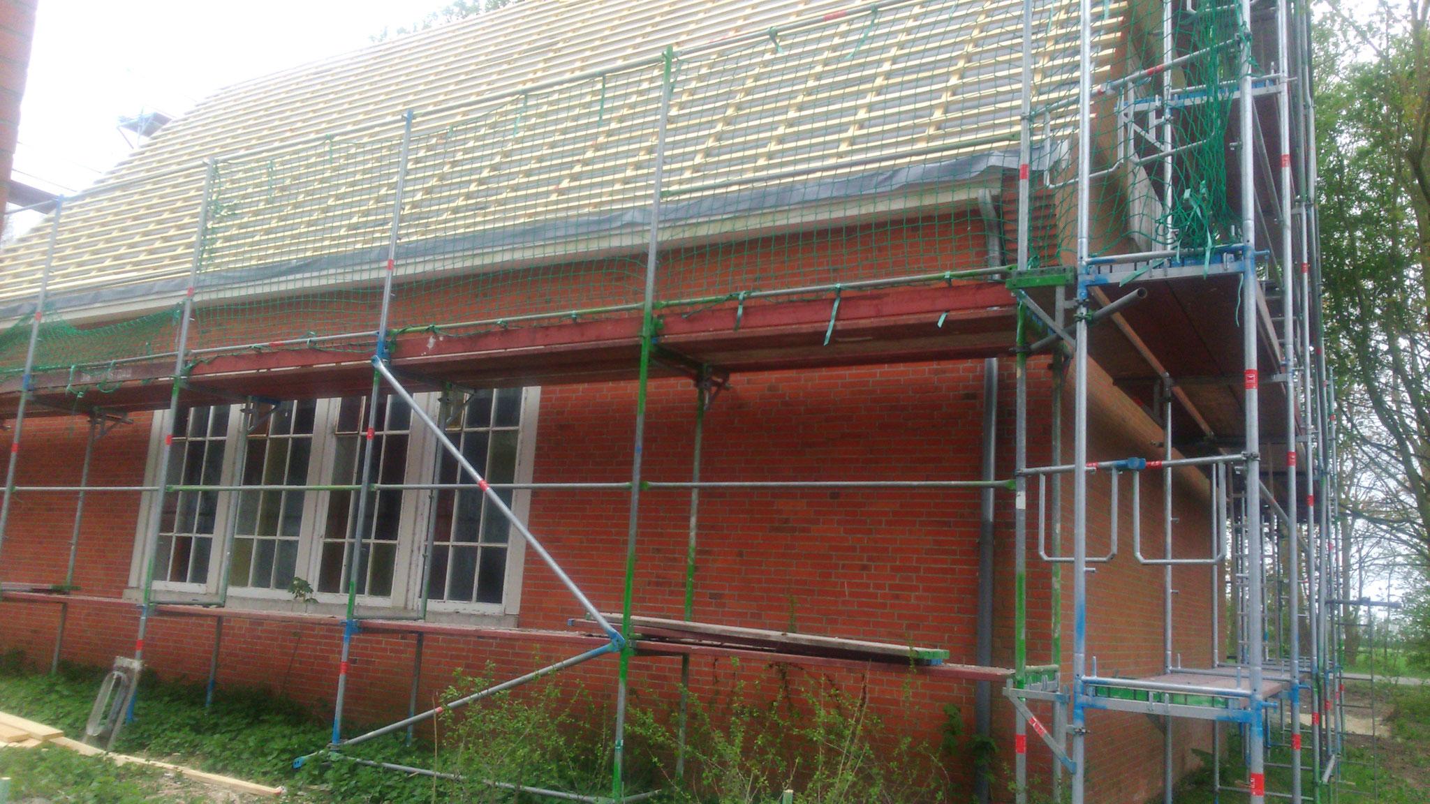 Außenansicht Erneuerung vom Dachstuhl