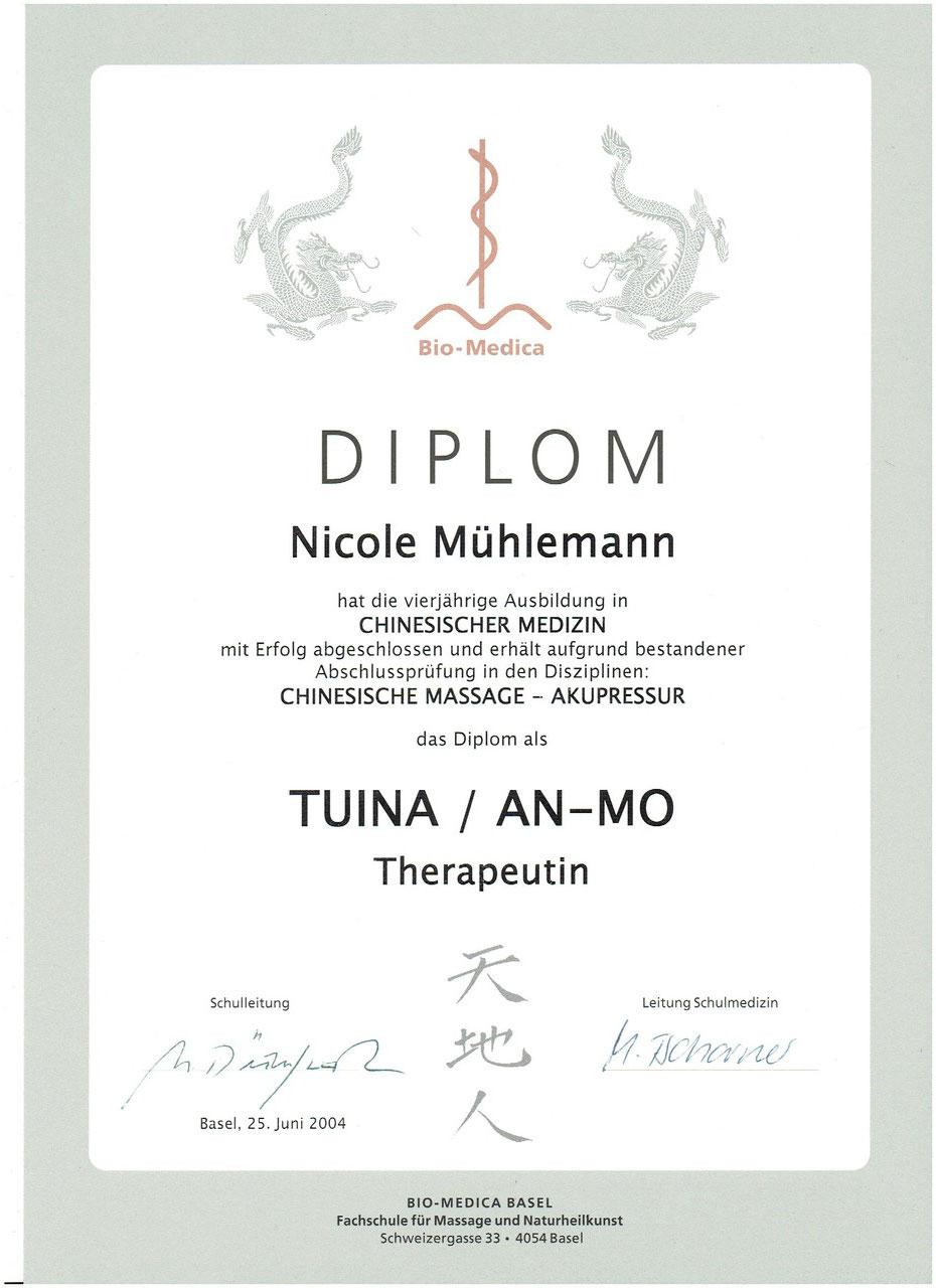 Diplom TCM Tuina