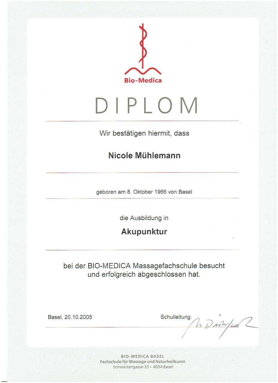 Diplom Akupunktur