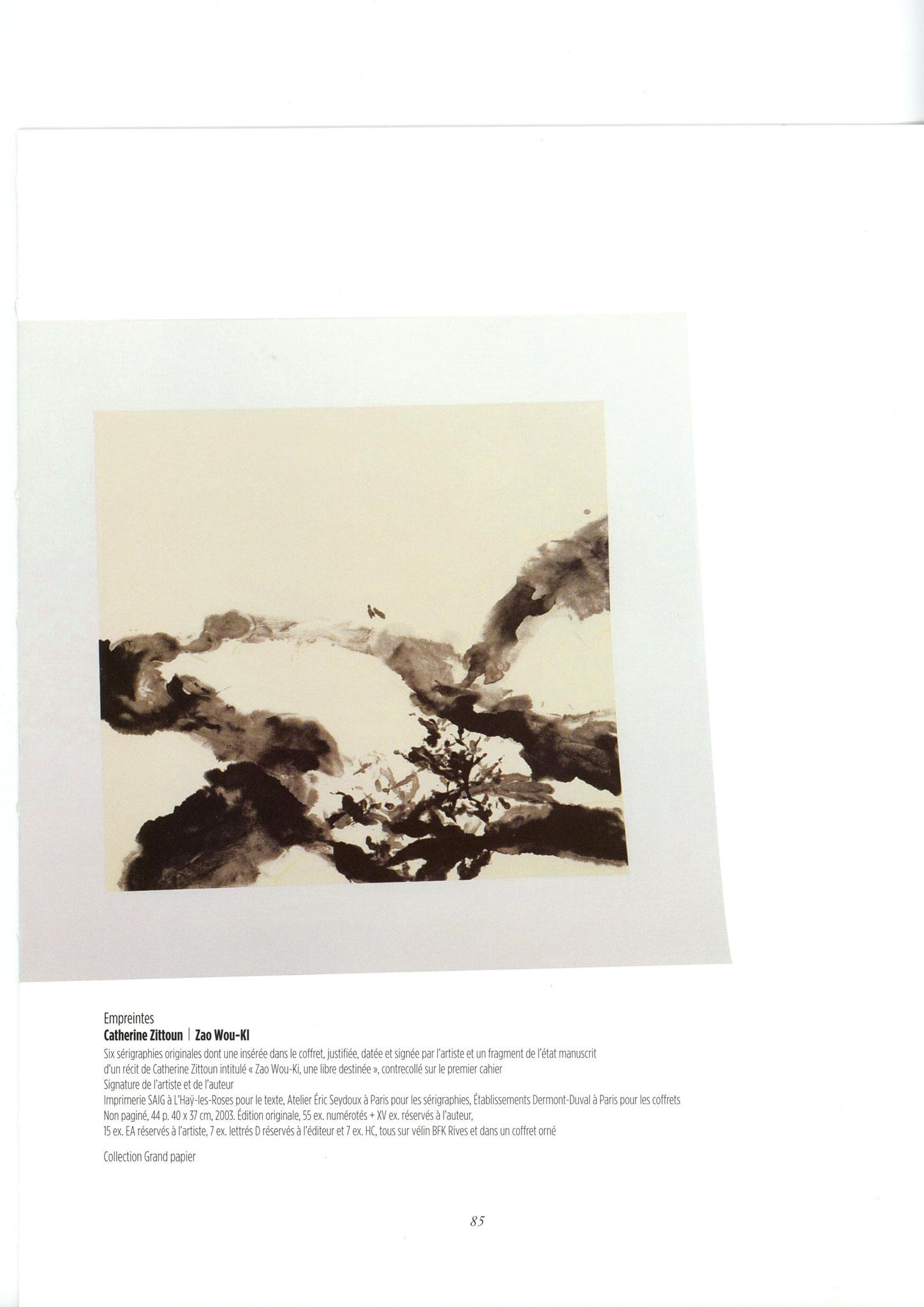 Empreintes - Catherine Zittoun / Zao Wou-ki