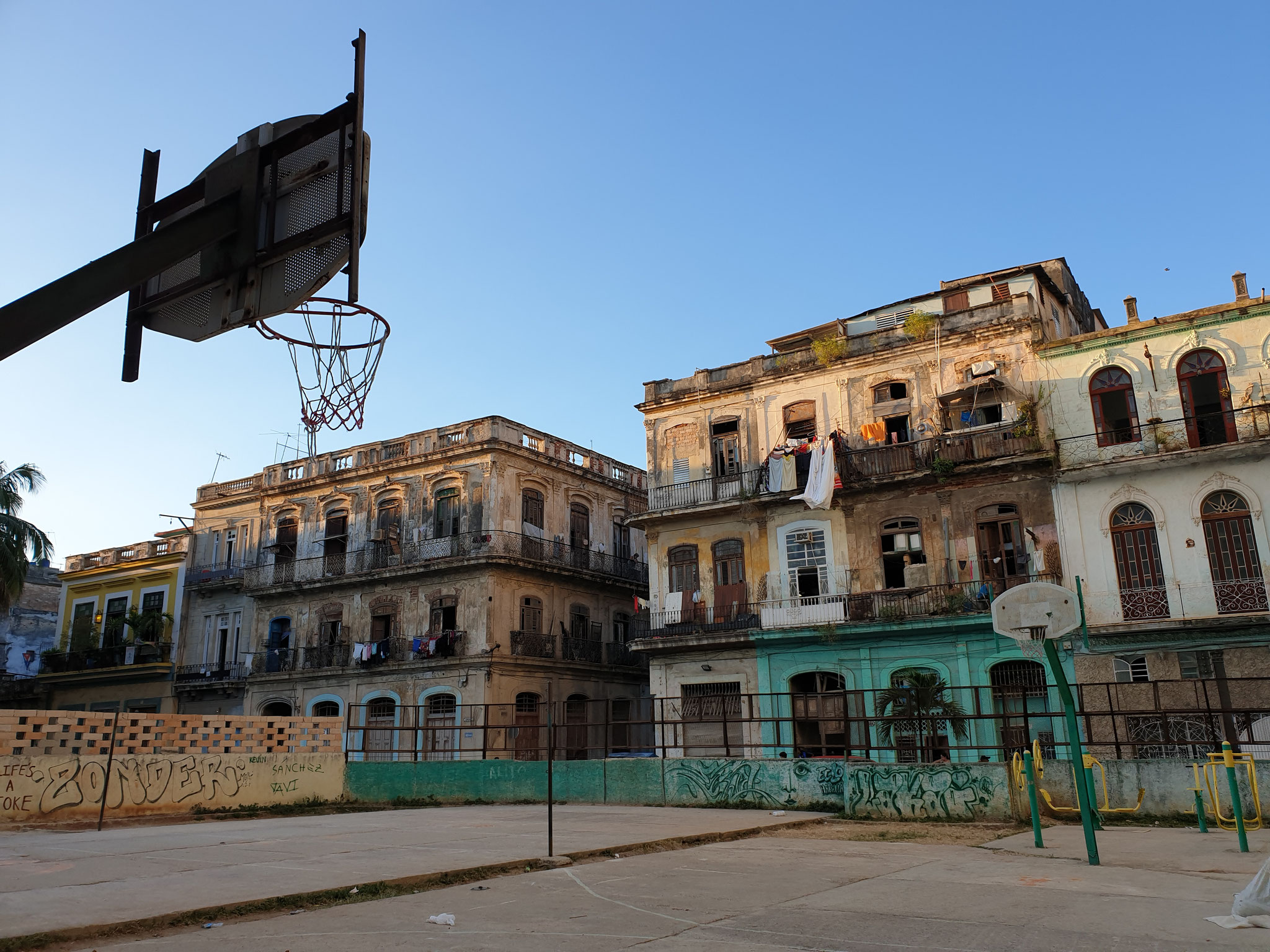 Basketballplatz in Havanna