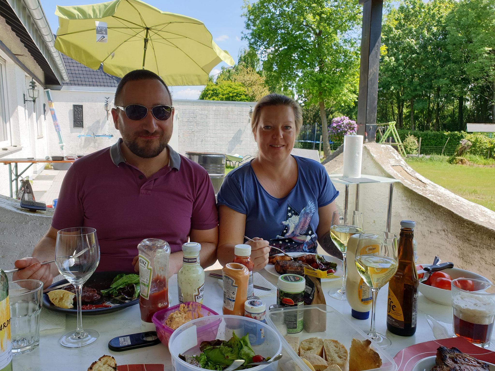 Aline und Erik zu Besuch