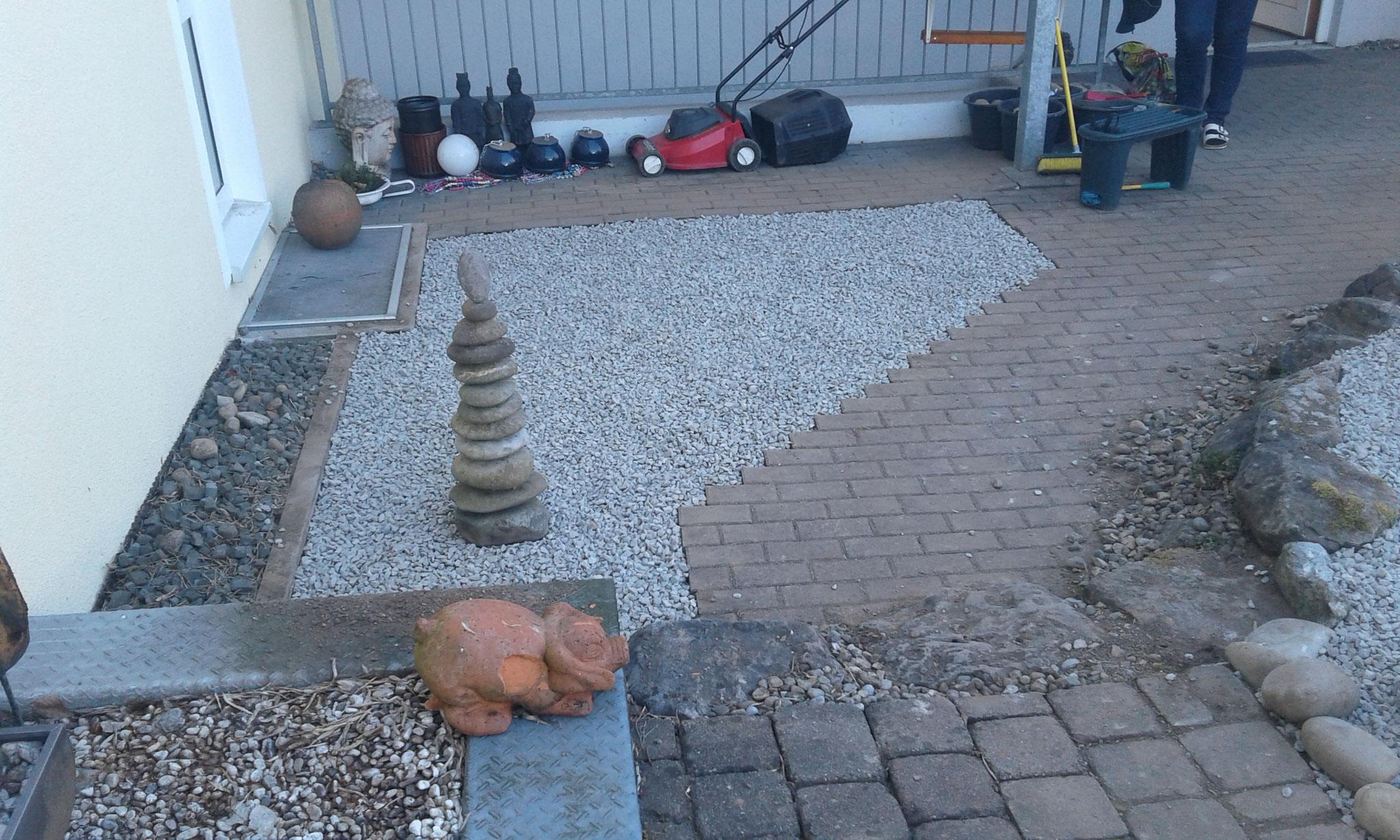 Anlage Steingarten zur Selbstbepflanzung in Wangen - NACHHER
