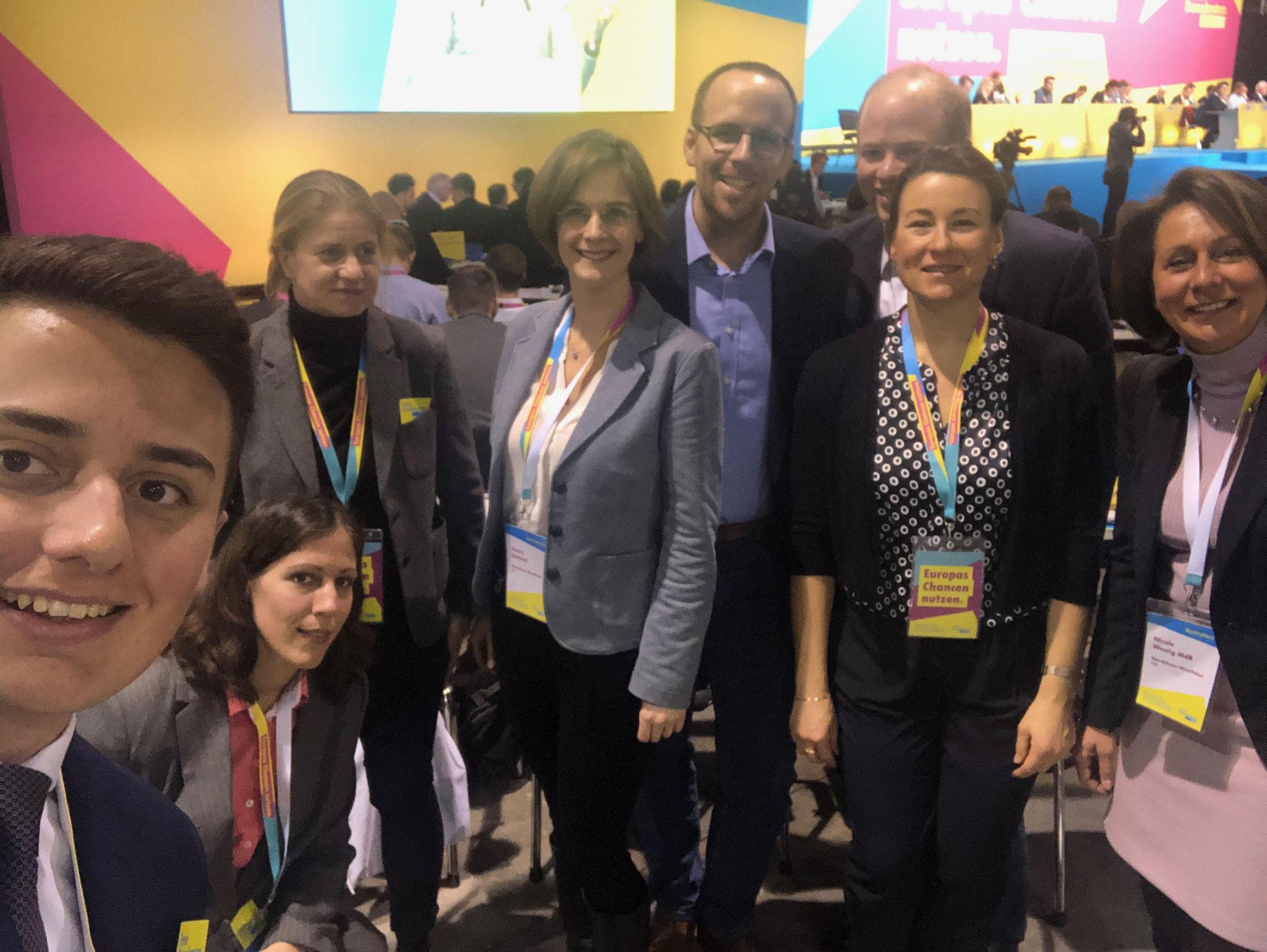 Gute Stimmung bei den Delegierten des Rhein-Sieg Kreises auf dem Europaparteitag