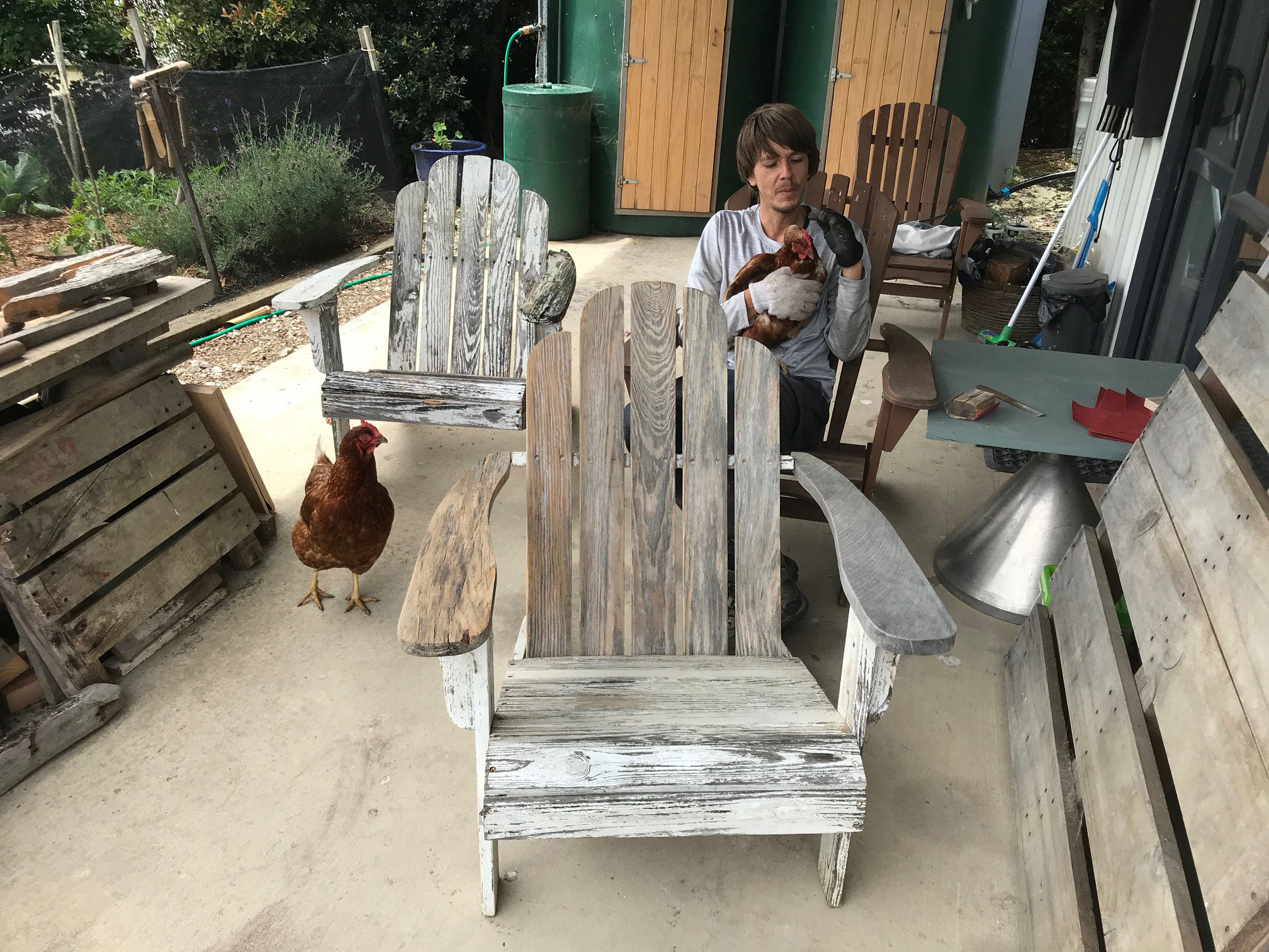Terrassenstühle vorher