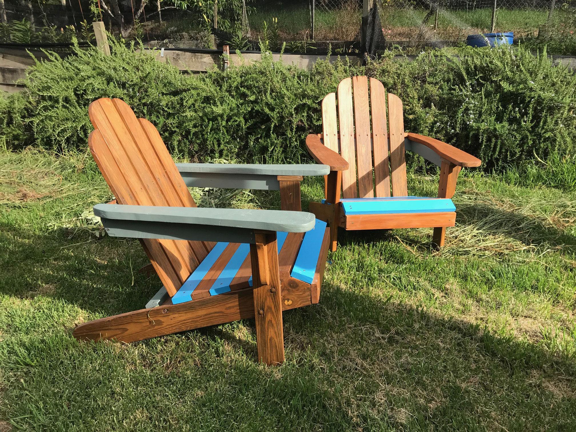 Terrassenstühle nachher