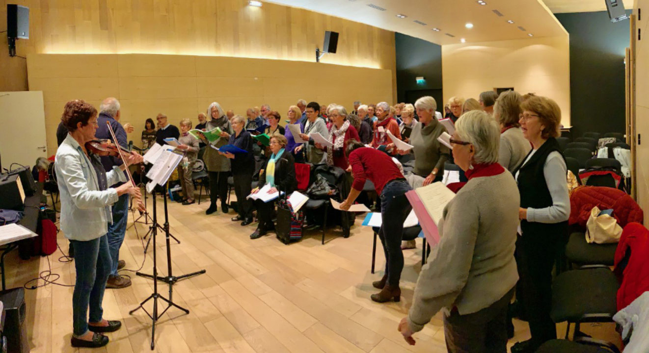 Répétition de l'atelier Musique et chants de la mer