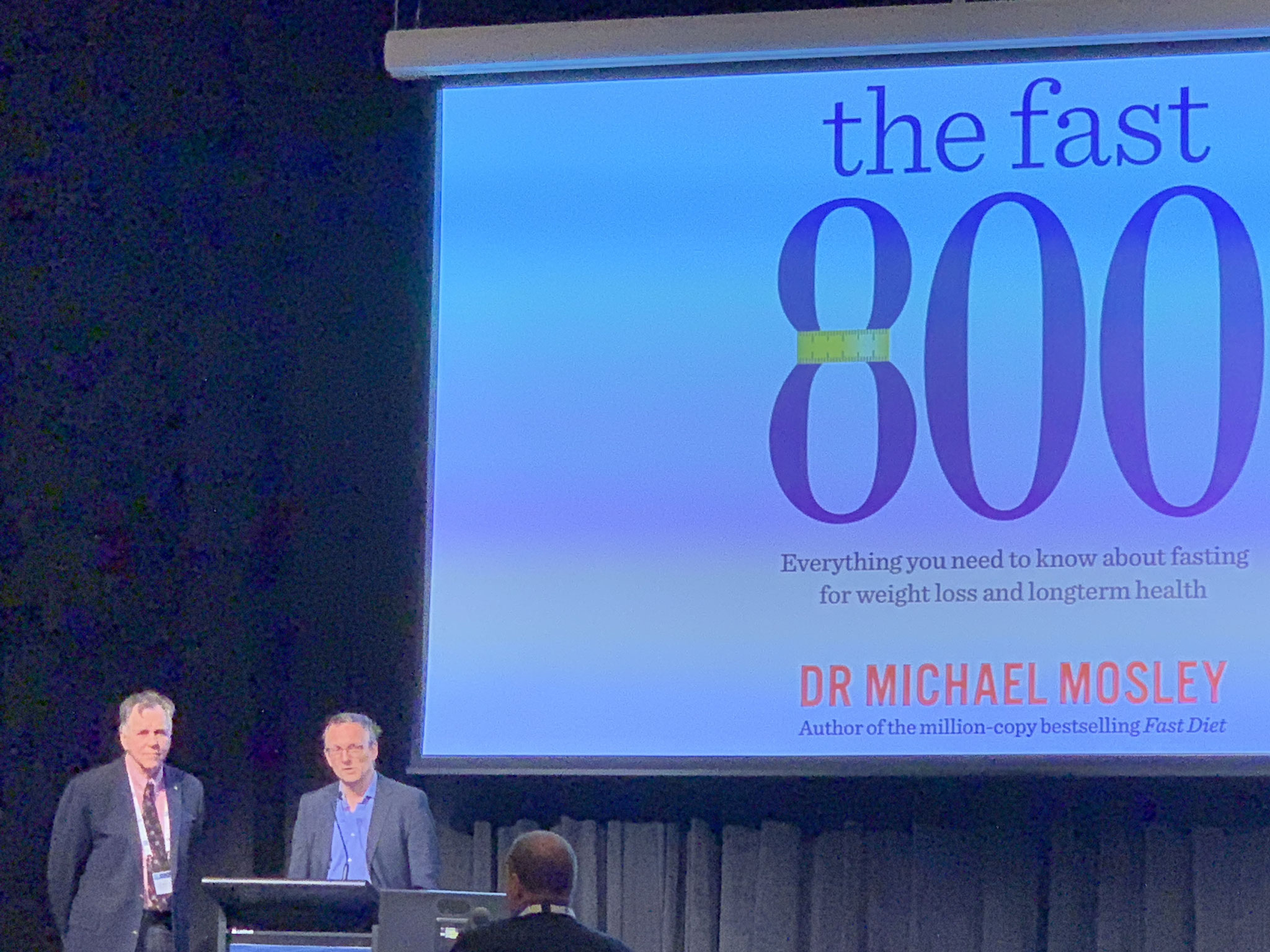 Prof Barry Marshall and Dr Michael Mosley 2019 at the Science on Swan Seminar