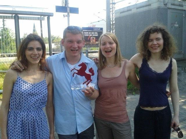 Das sind ADD ONE 2014 mit dem gewonnenen Preis beim WESTFALEN SLAM.