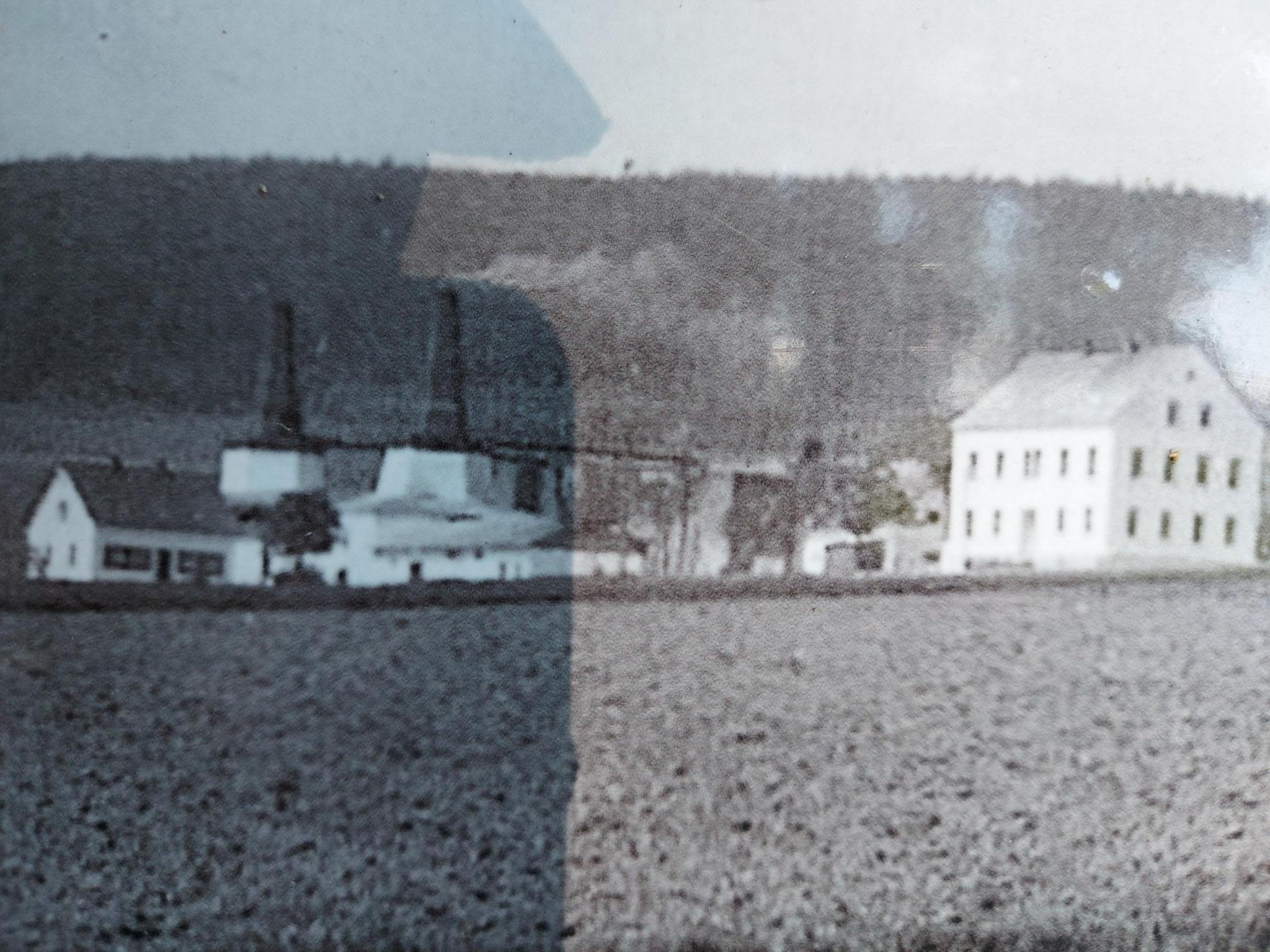 Kalkwerk Hammerunterwiesenthal Werk 1 um 1930 (Bild Infotafel)