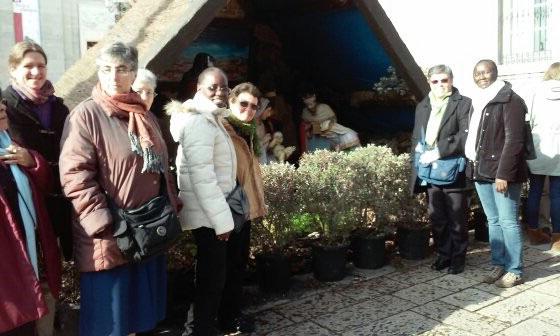 Visitando el Belén de  la Catedral