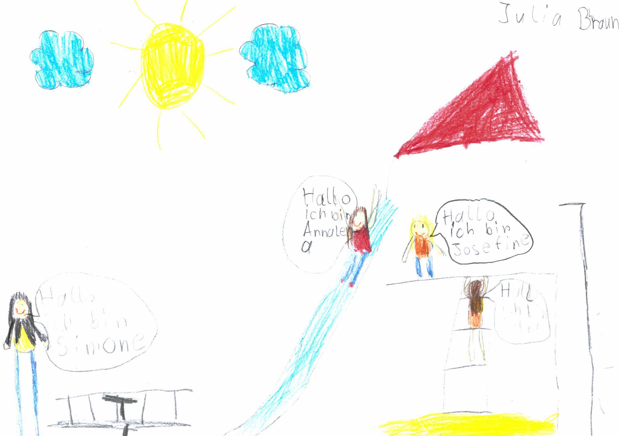 Julia Braun, 6 Jahre, Wolfsbuch
