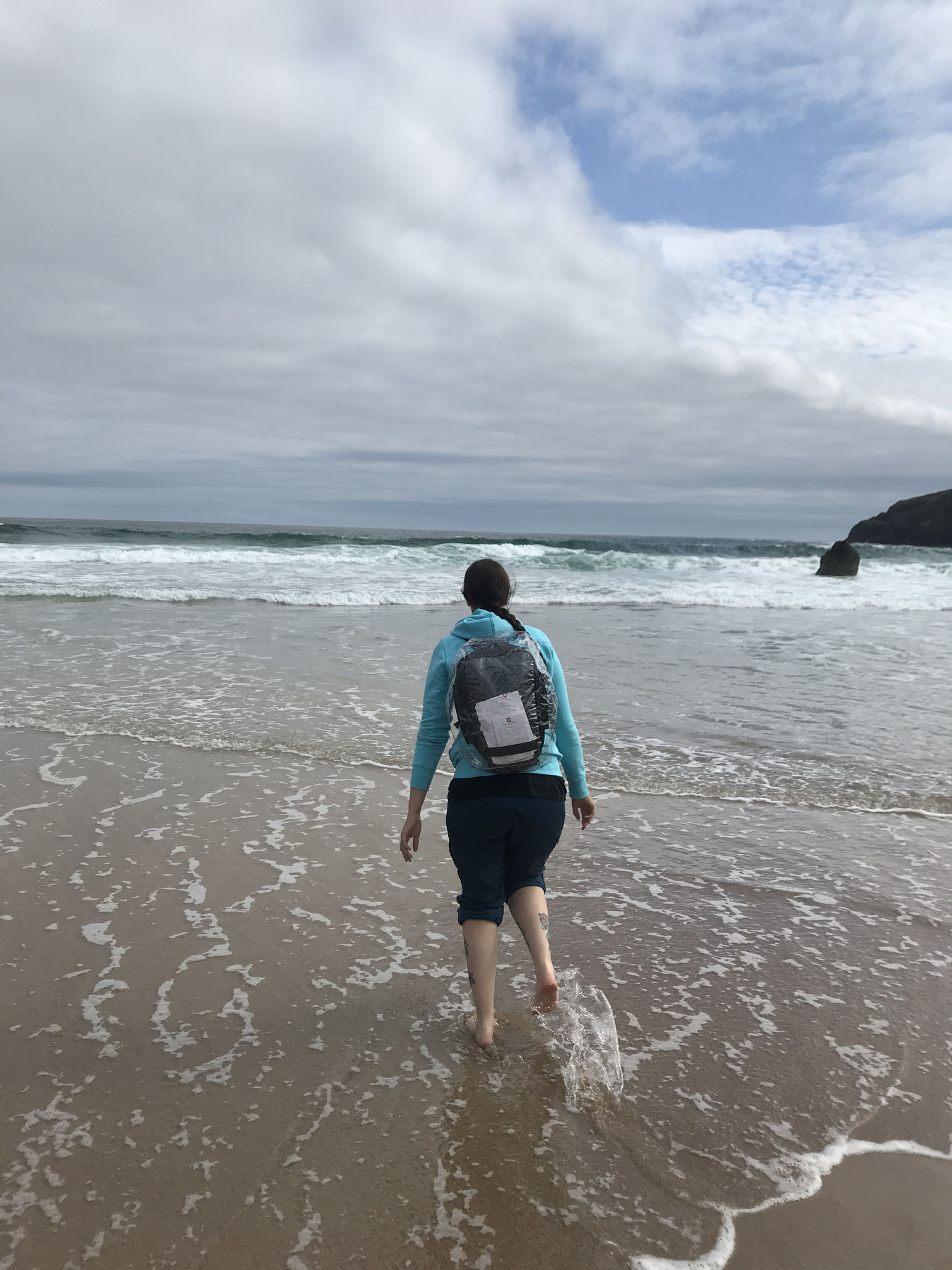 im Meer in Durness