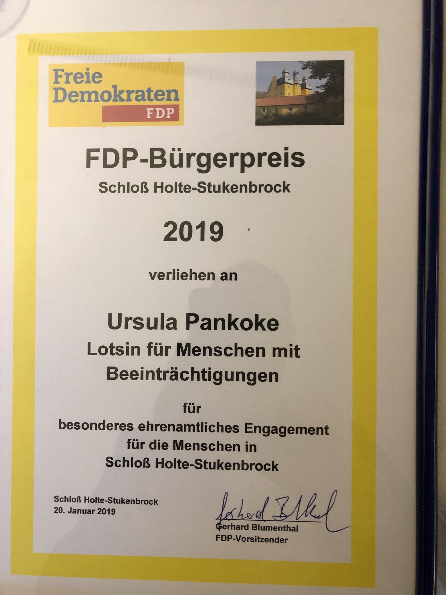 Ursula Pankoke, Lotsin für Menschen mit Beeinträchtigungen