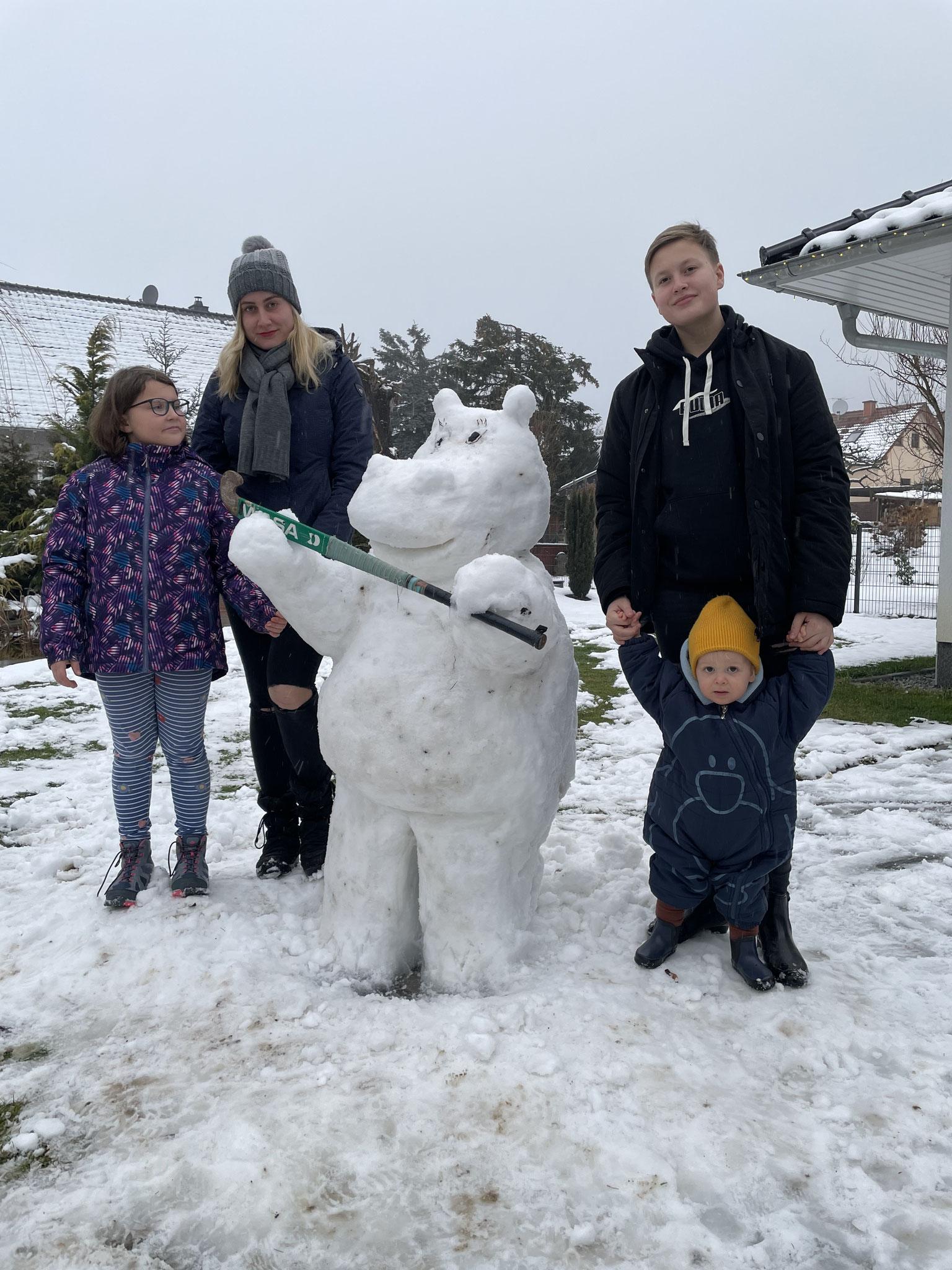 Schnee-Tresi von Familie Hanschmann und Ruprecht