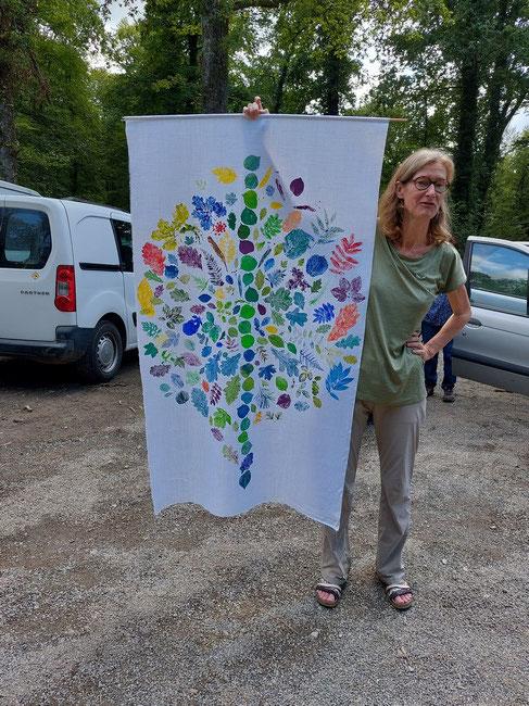 Un exemple du travail qu'elle souhaite réaliser pour la forêt du Bager