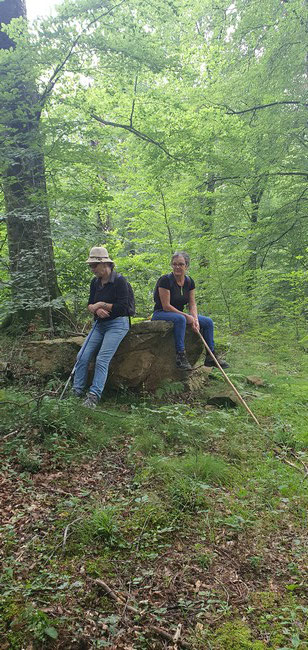 """Méditation sur un """"Pillow lavas"""" en forêt du Bager d'Oloron - concentration-méditation-Bien-être"""