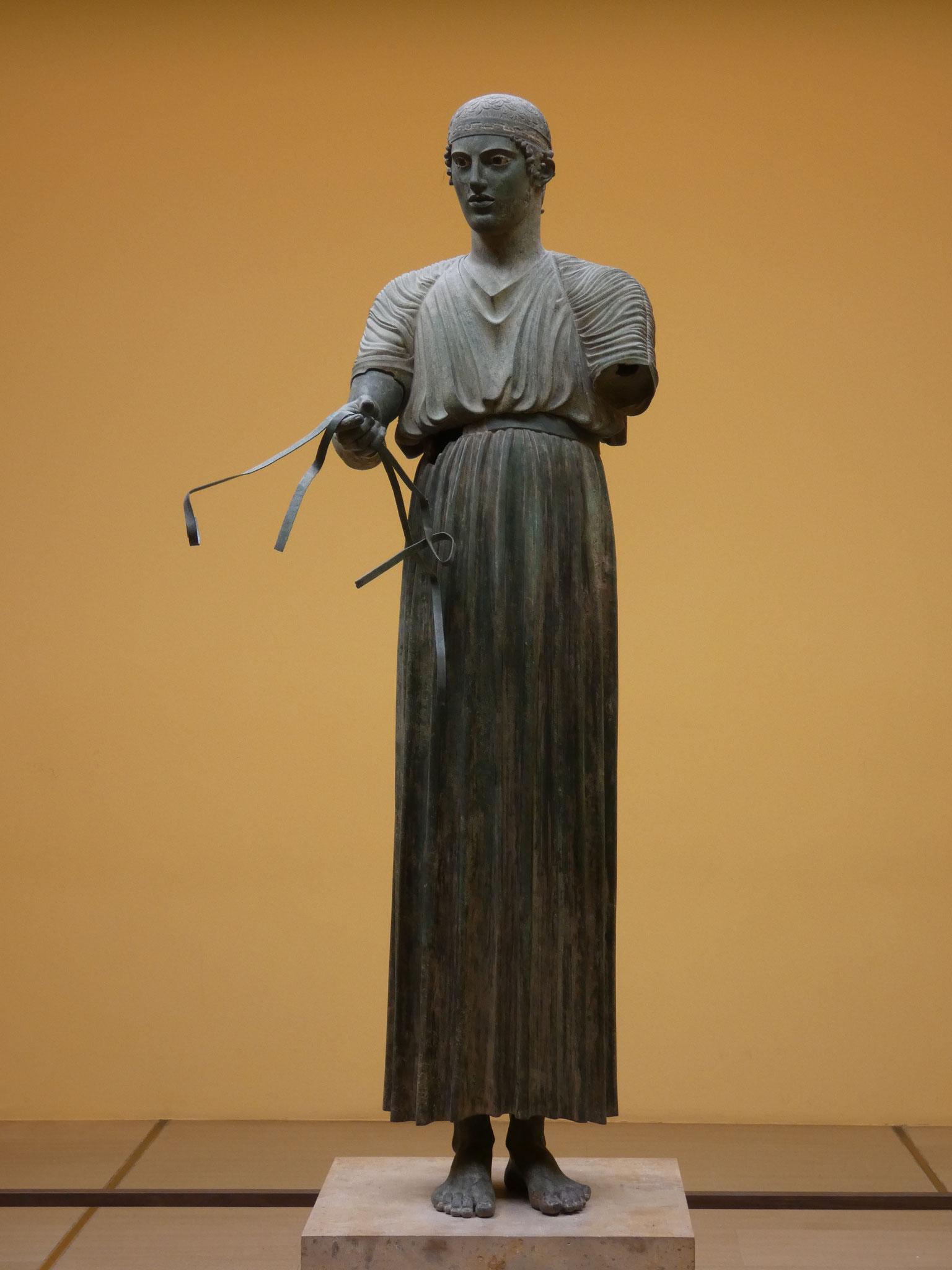 einzig erhaltene Bronzefigur