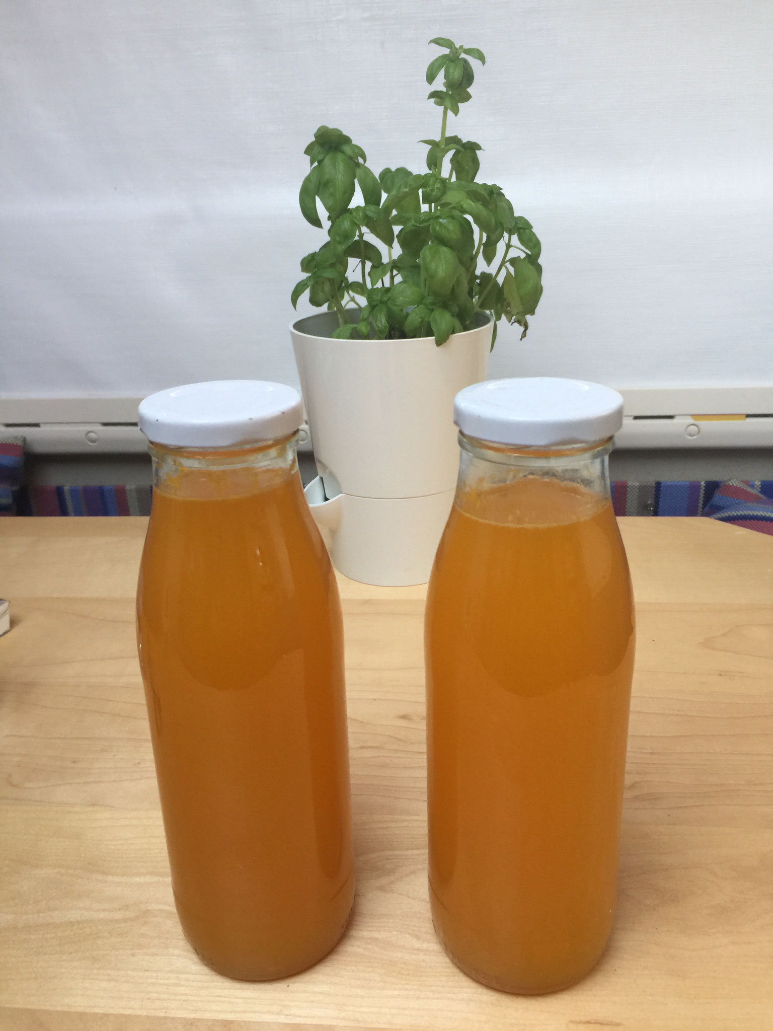 wir machen Orangensirup....