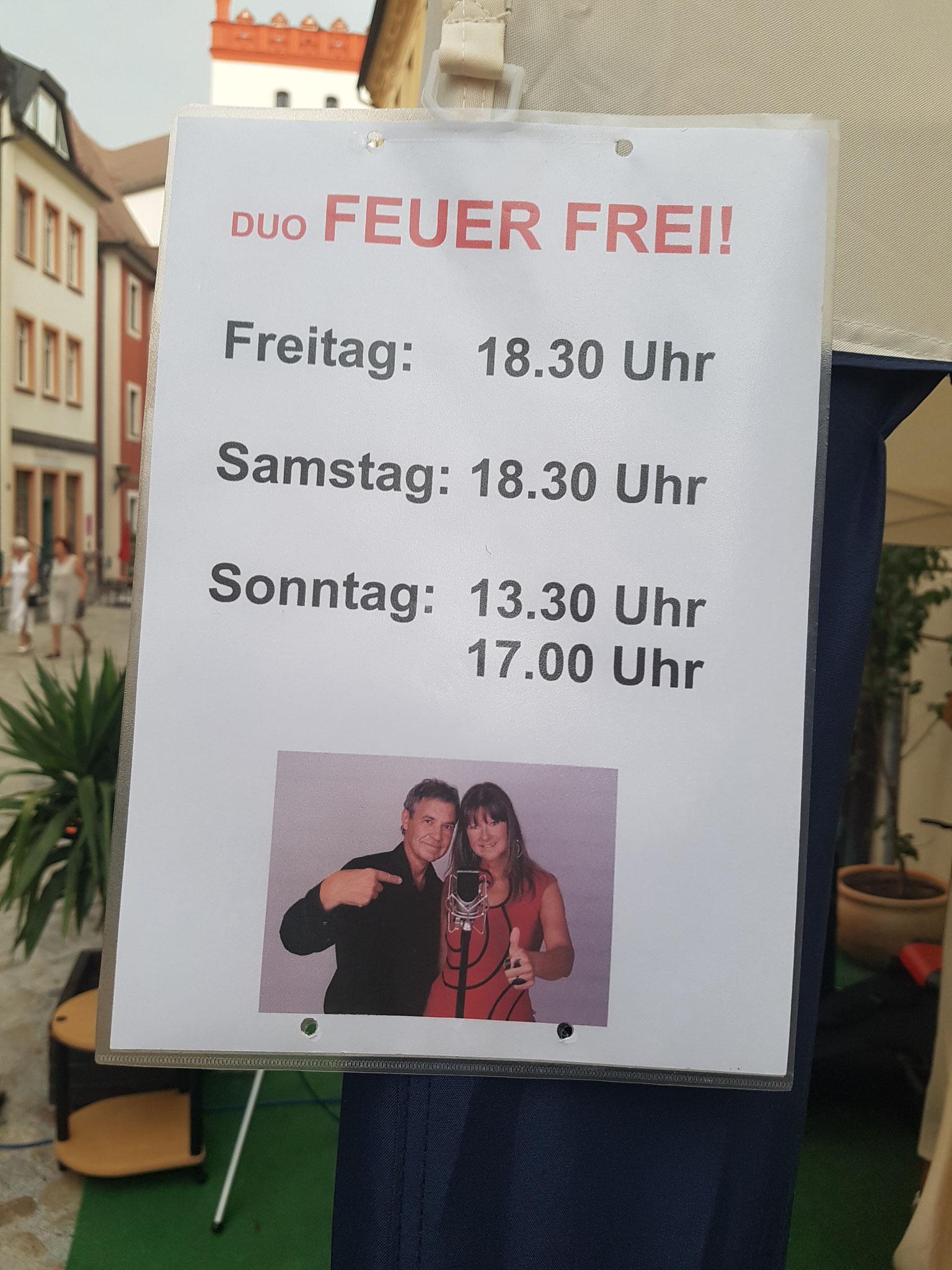 Unser Plakat für die Auftritte