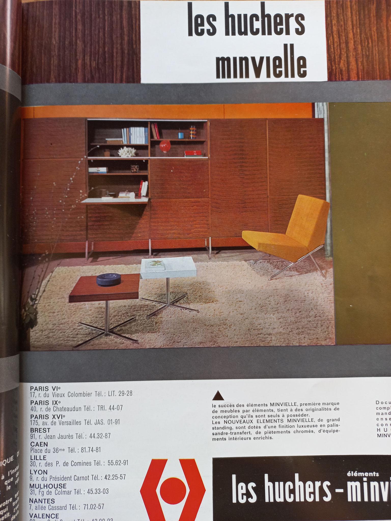 Publicité Les Huchers-Minvielle, c. 1962