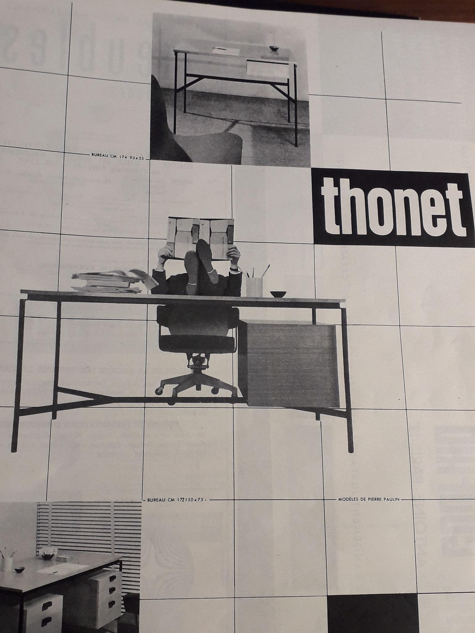 Publicité Thonet 1957