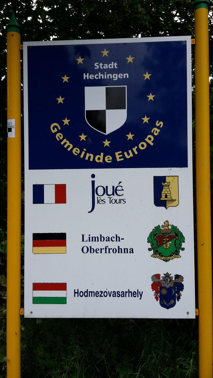 Ankunft in Hechingen