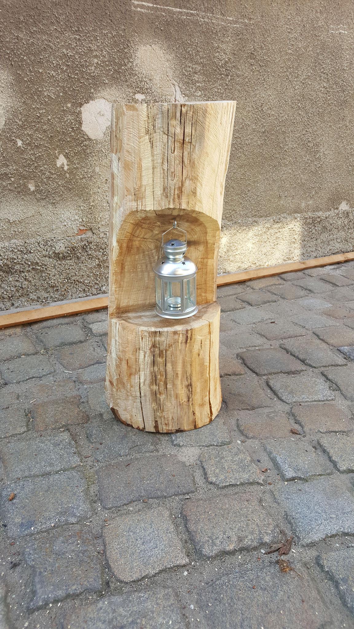 Laternenhalter Baumstamm Gartendeko